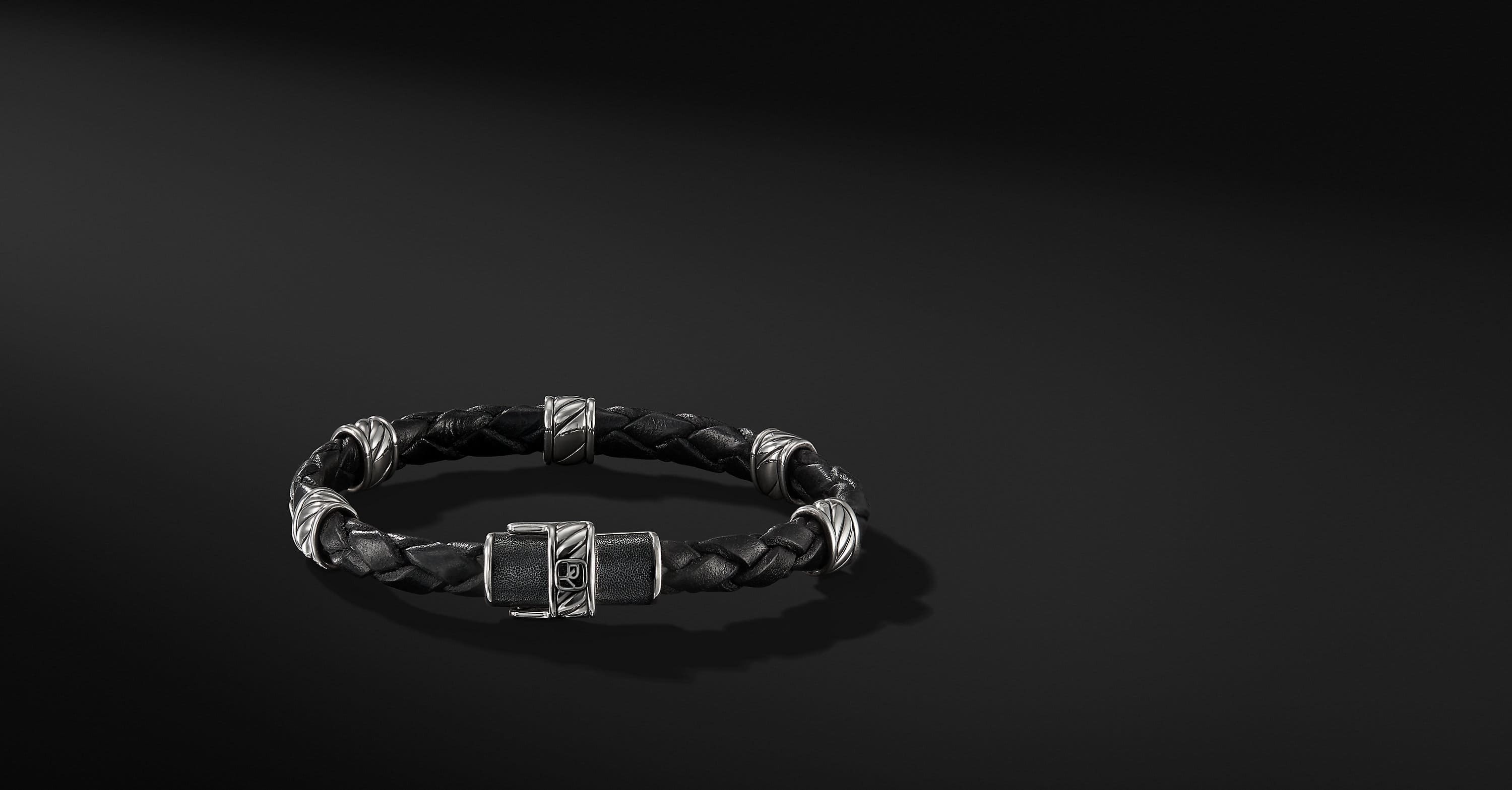 Cable Classic Leather Station Bracelet