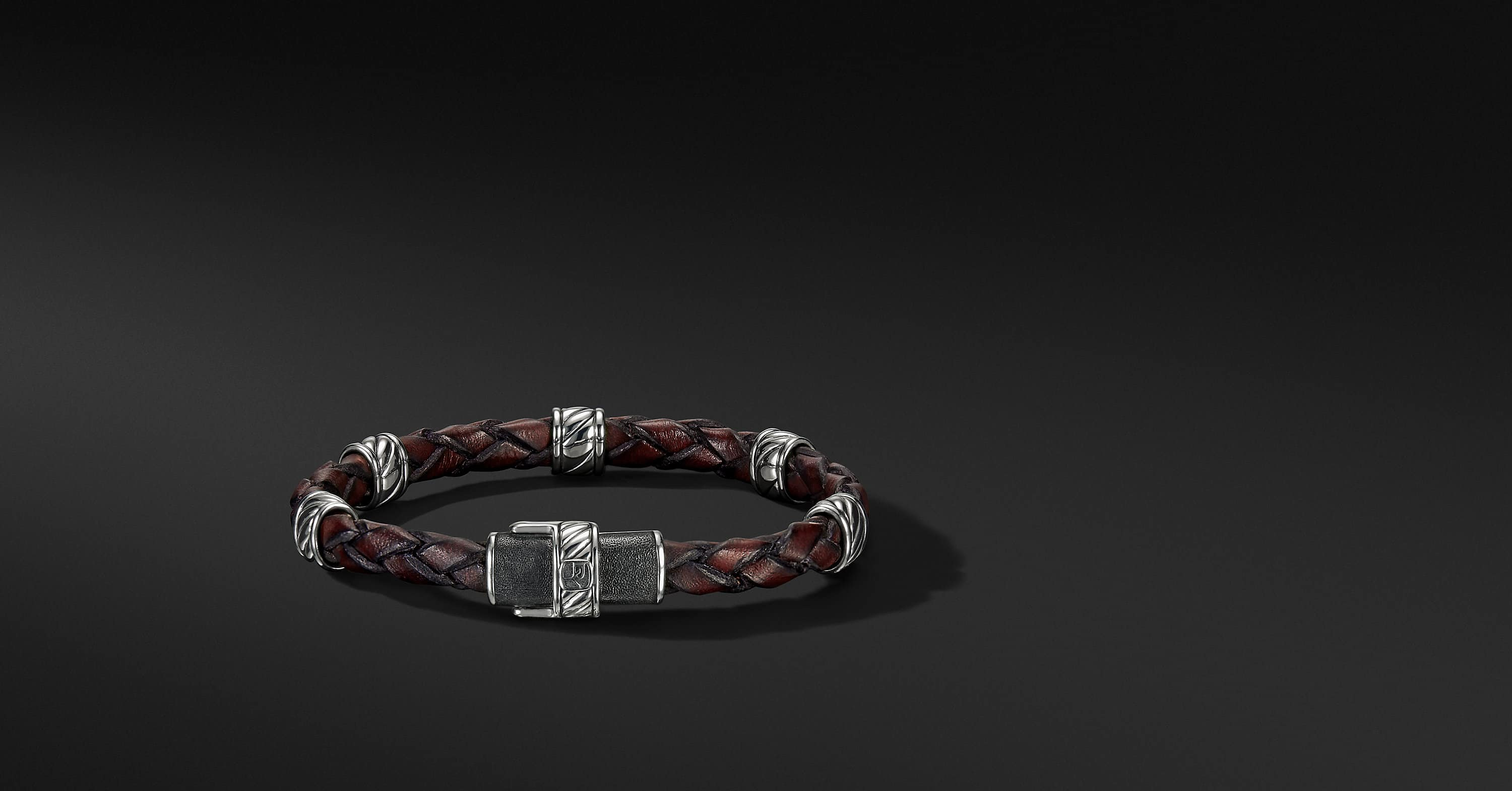 Cable Classic Collection Leather Station Bracelet