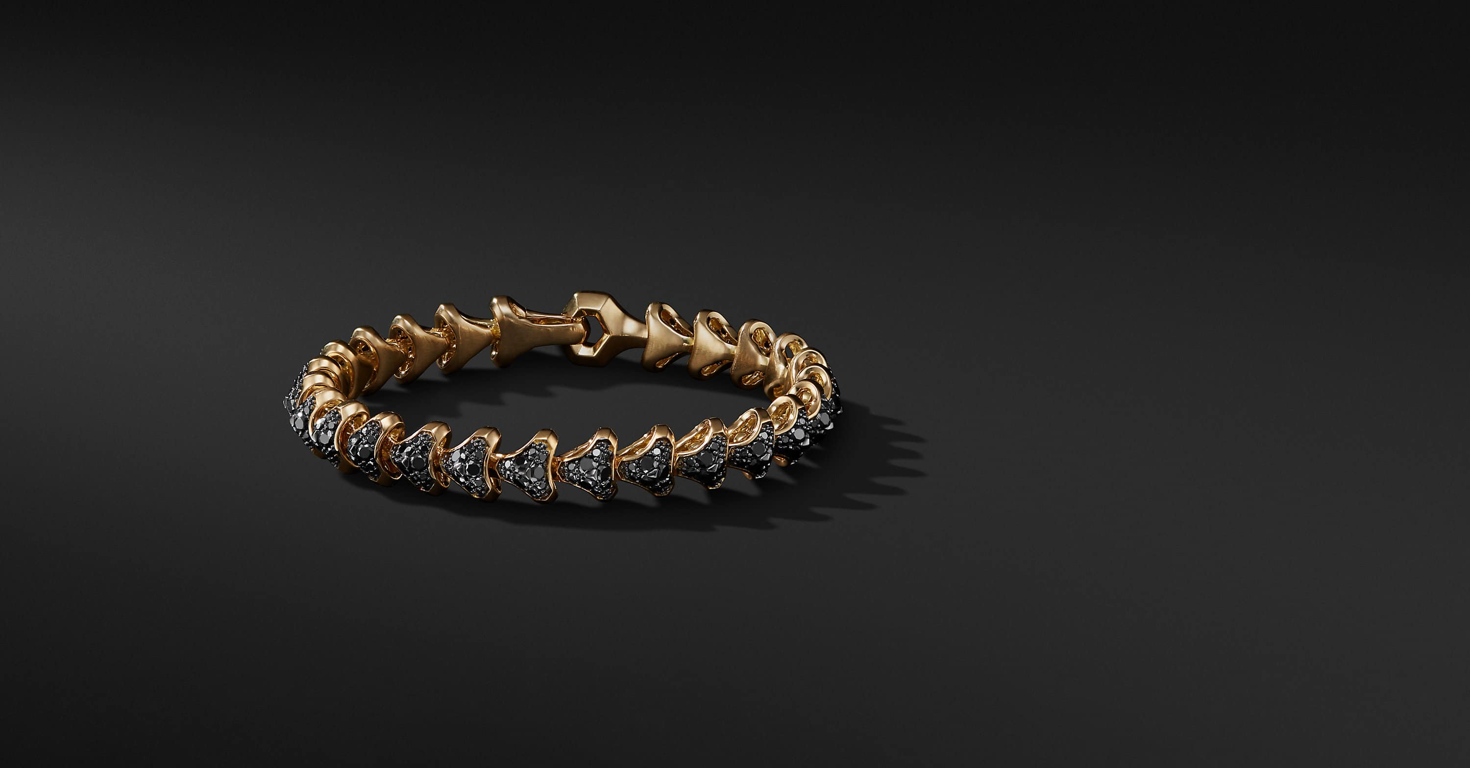 Armory Single Row Link Bracelet in 18K Gold