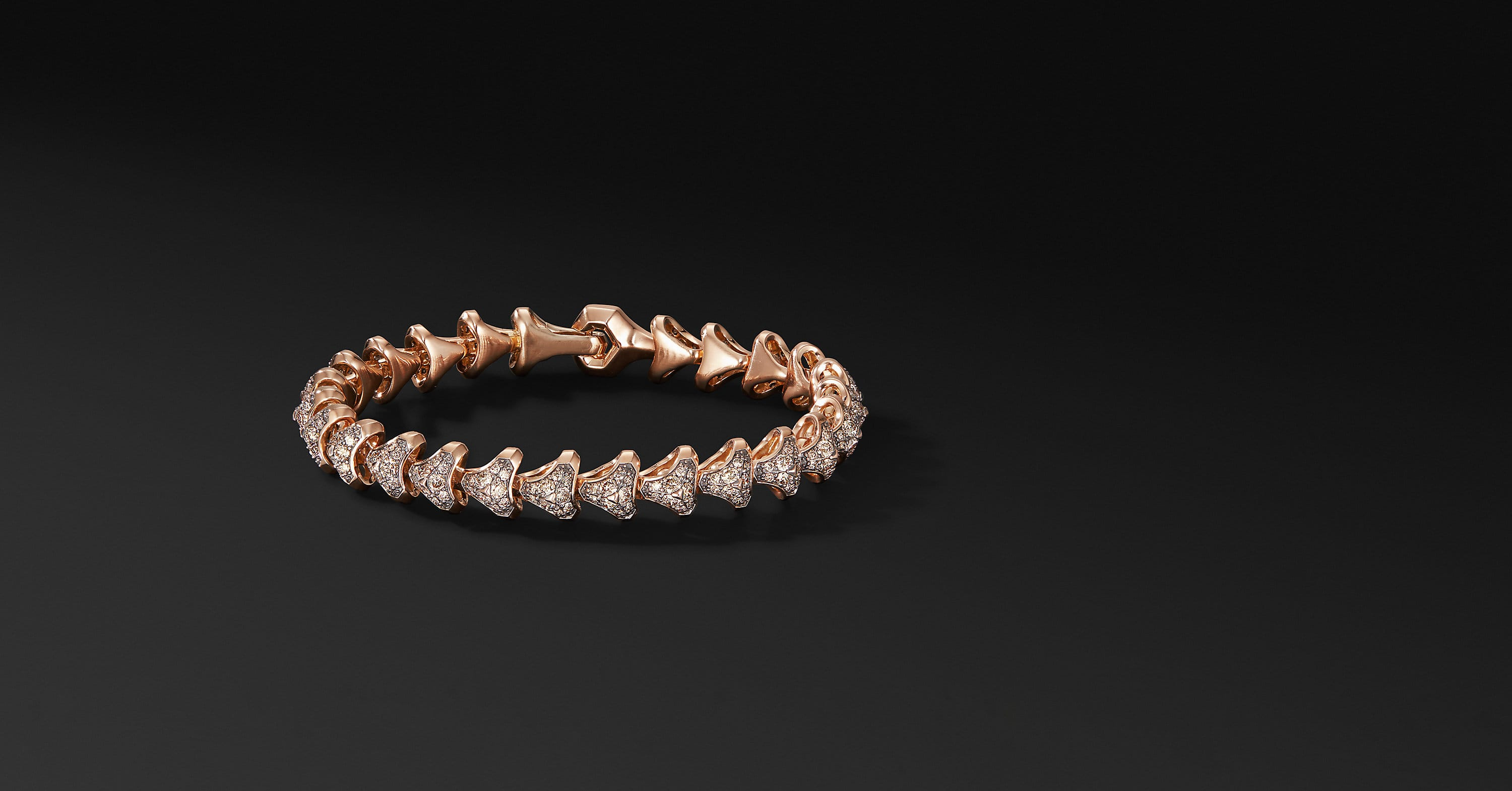 Armory Single Row Link Bracelet in 18K Rose Gold