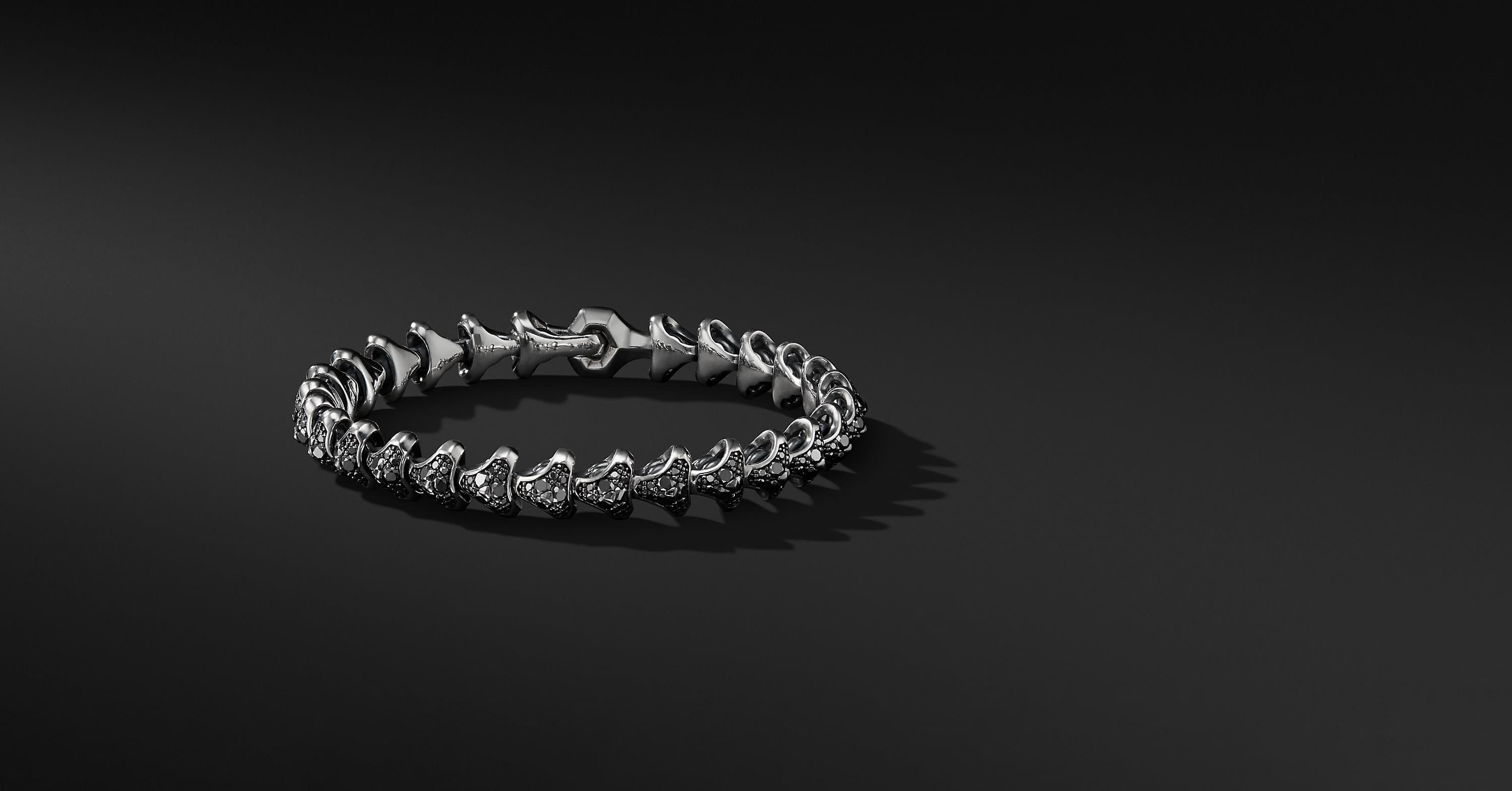 Armory Single Row Link Bracelet with Diamonds