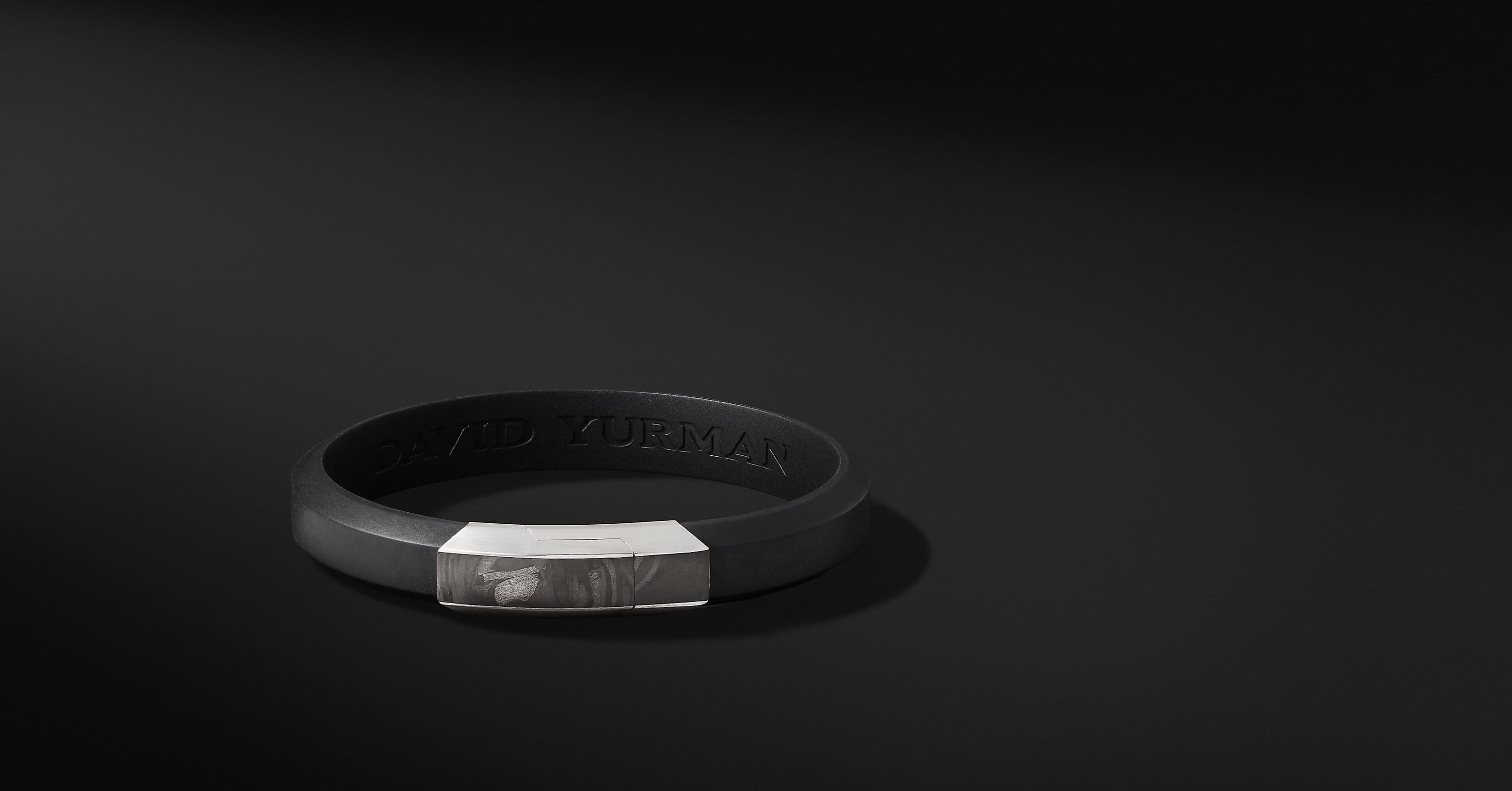 Forged Carbon Rubber ID Bracelet