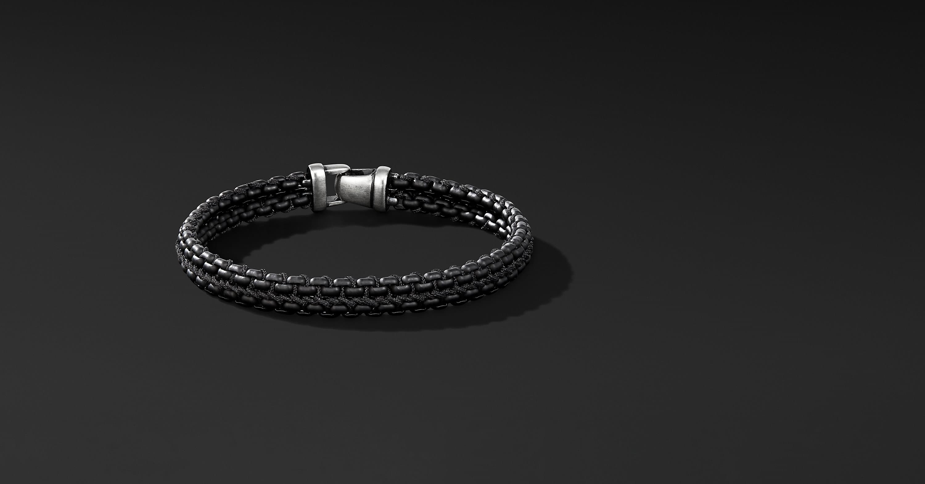 Woven Box Chain Bracelet, 10mm