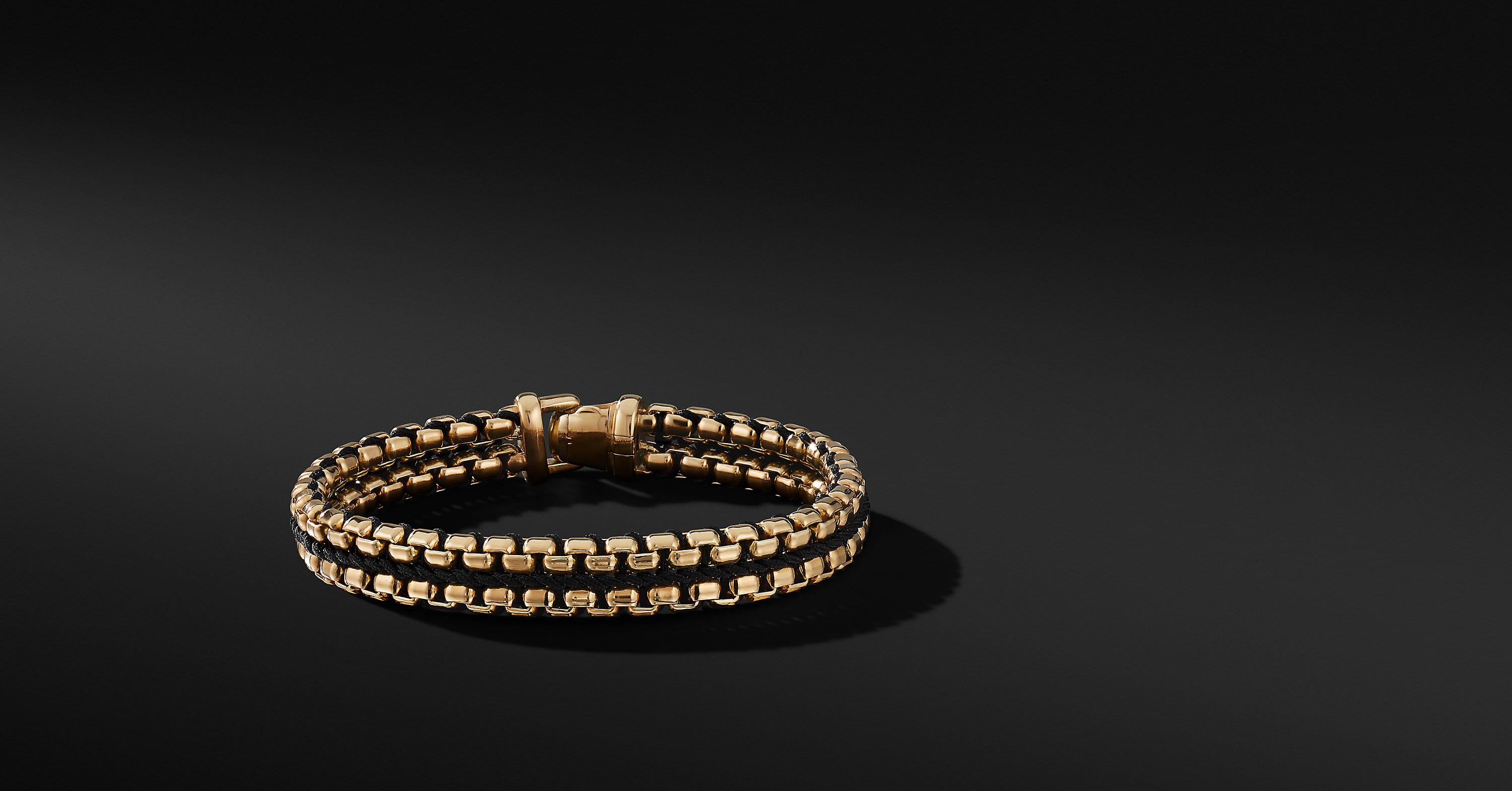 Woven Box Chain Bracelet in 18K Gold