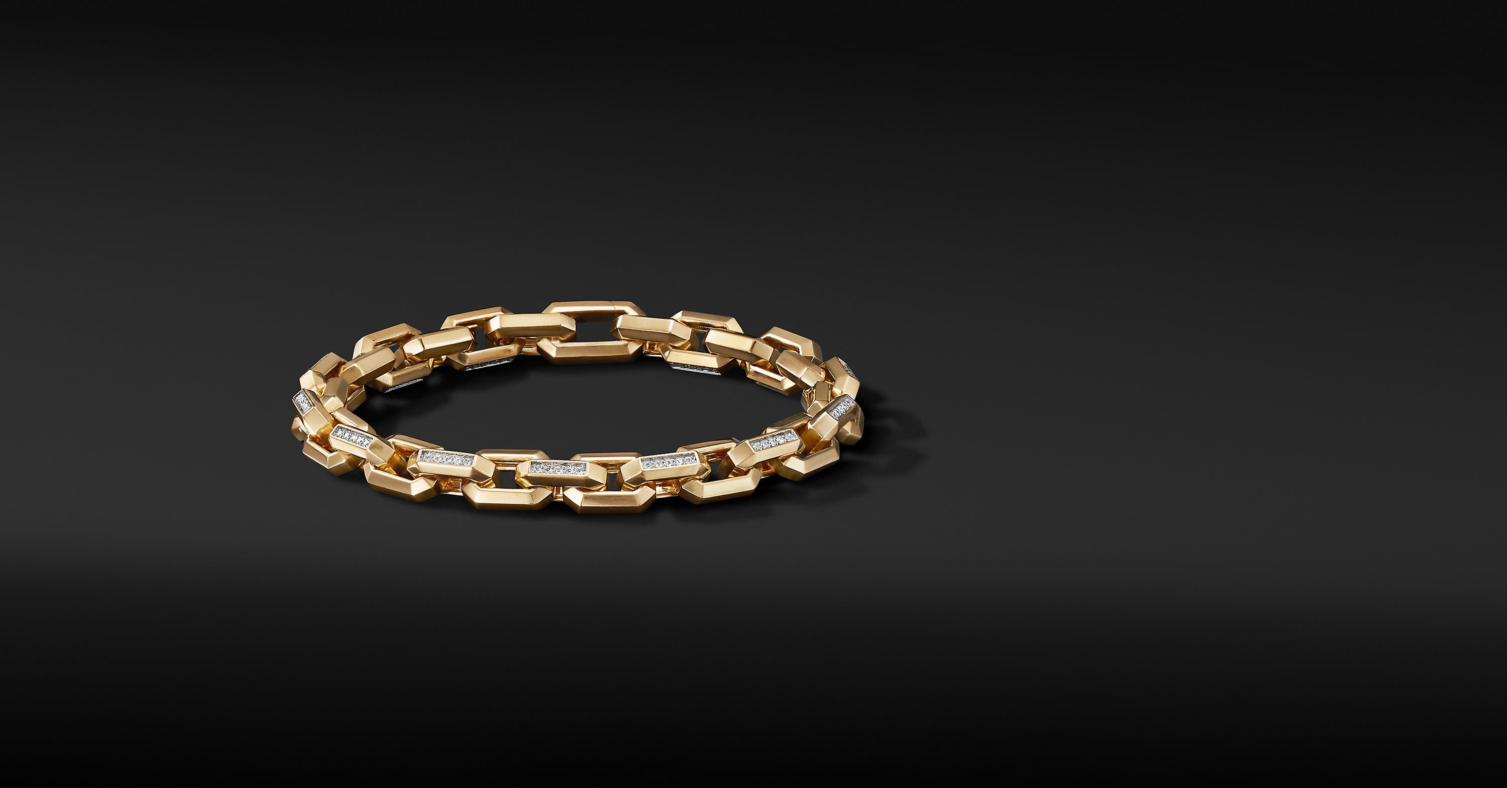 Heirloom Chain Link Bracelet in 18K Yellow Gold, 7.5mm
