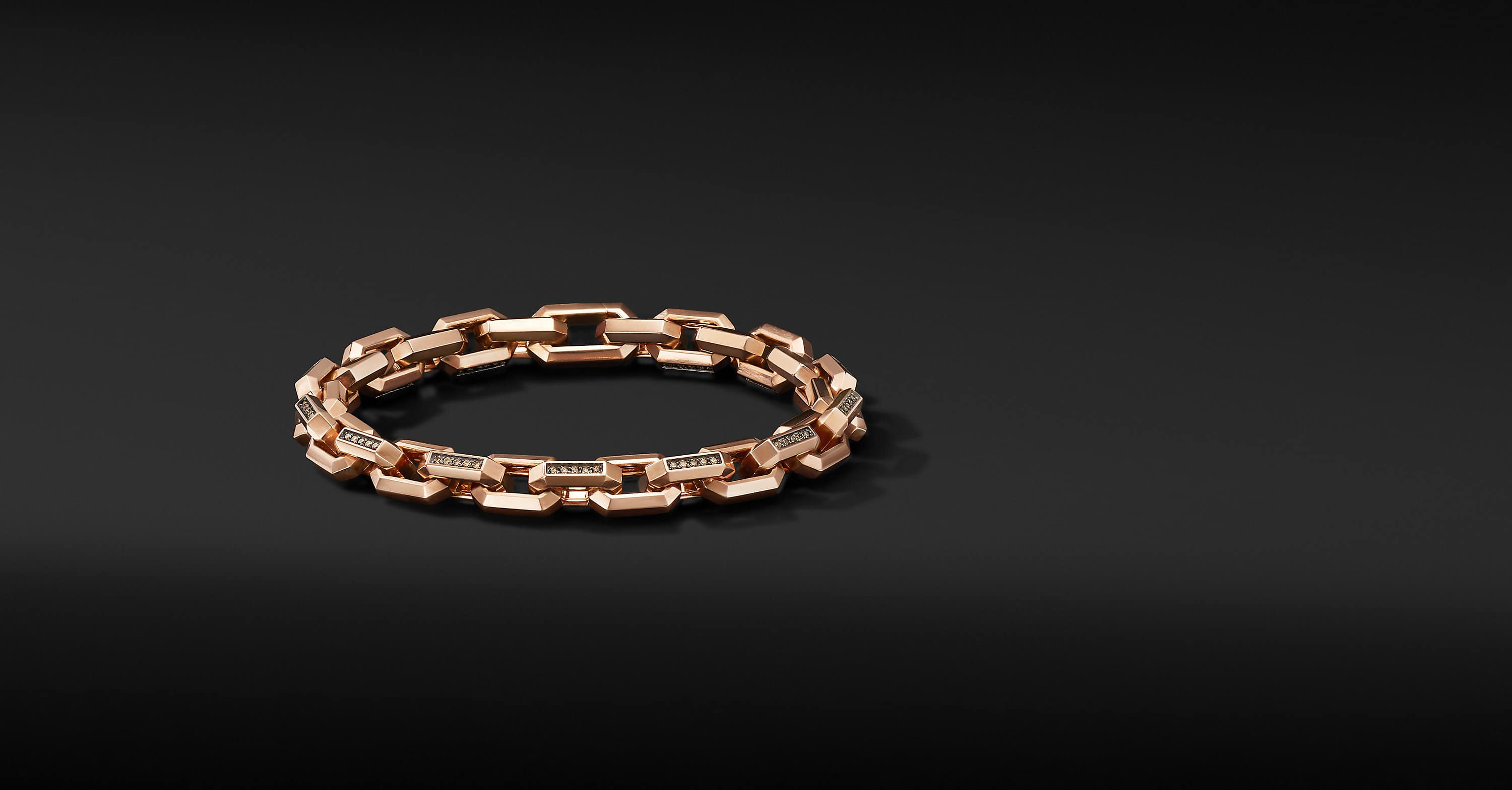 Heirloom Chain Link Bracelet in 18K Rose Gold, 7.5mm