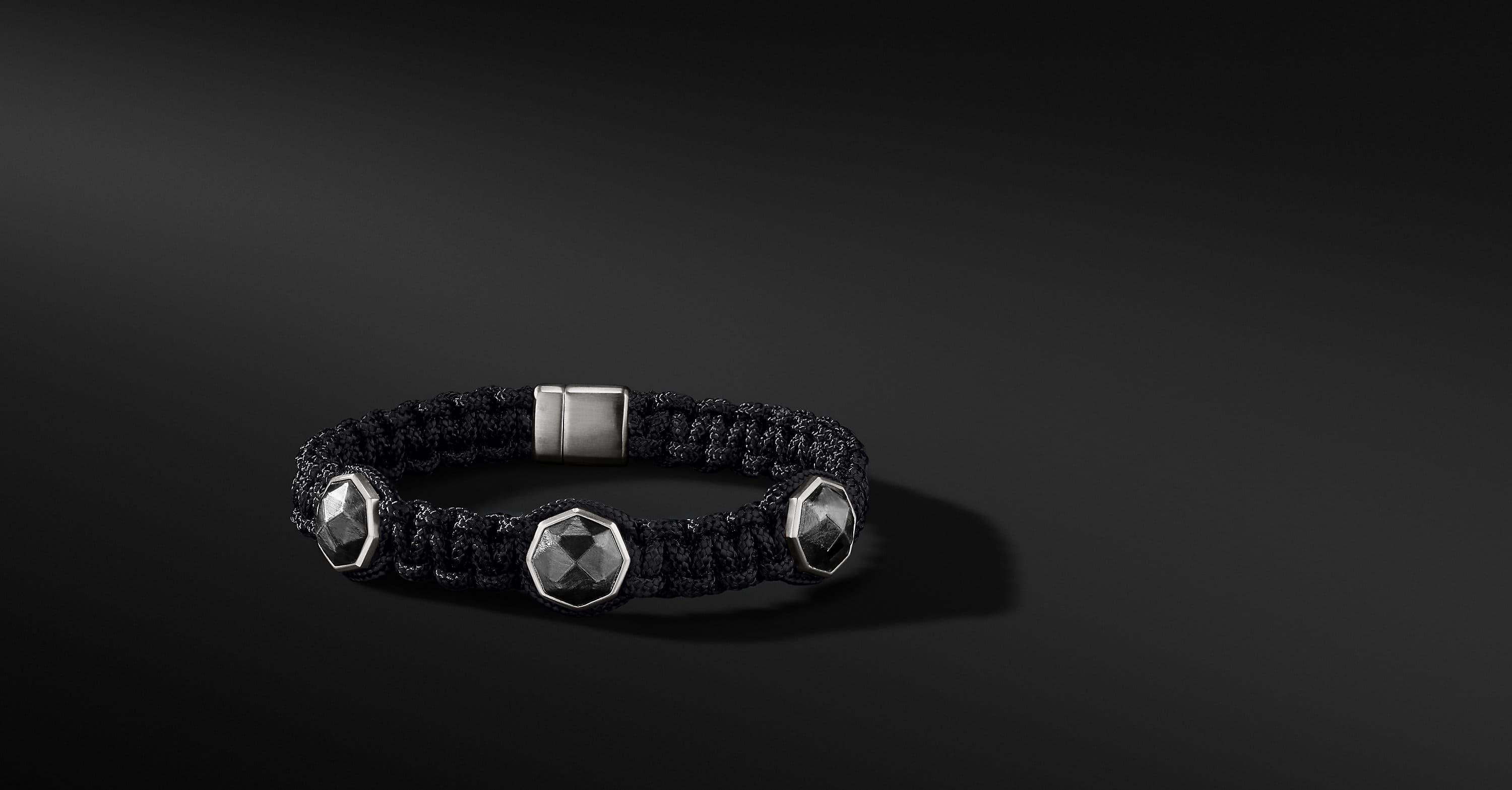 Forged Carbon Three-Station Woven Bracelet