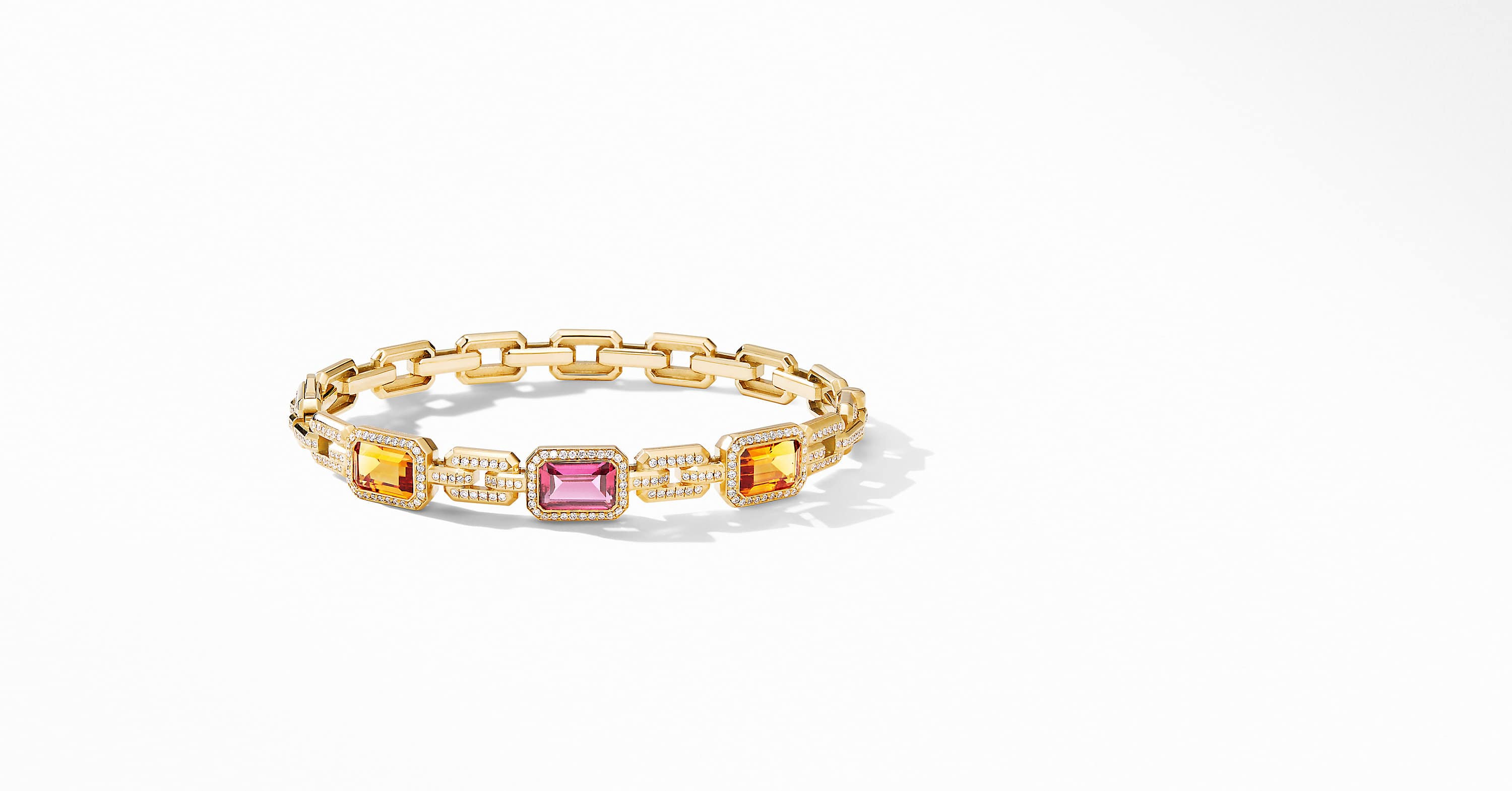 Novella Mosaic Bracelet in 18K Yellow Gold with Diamonds