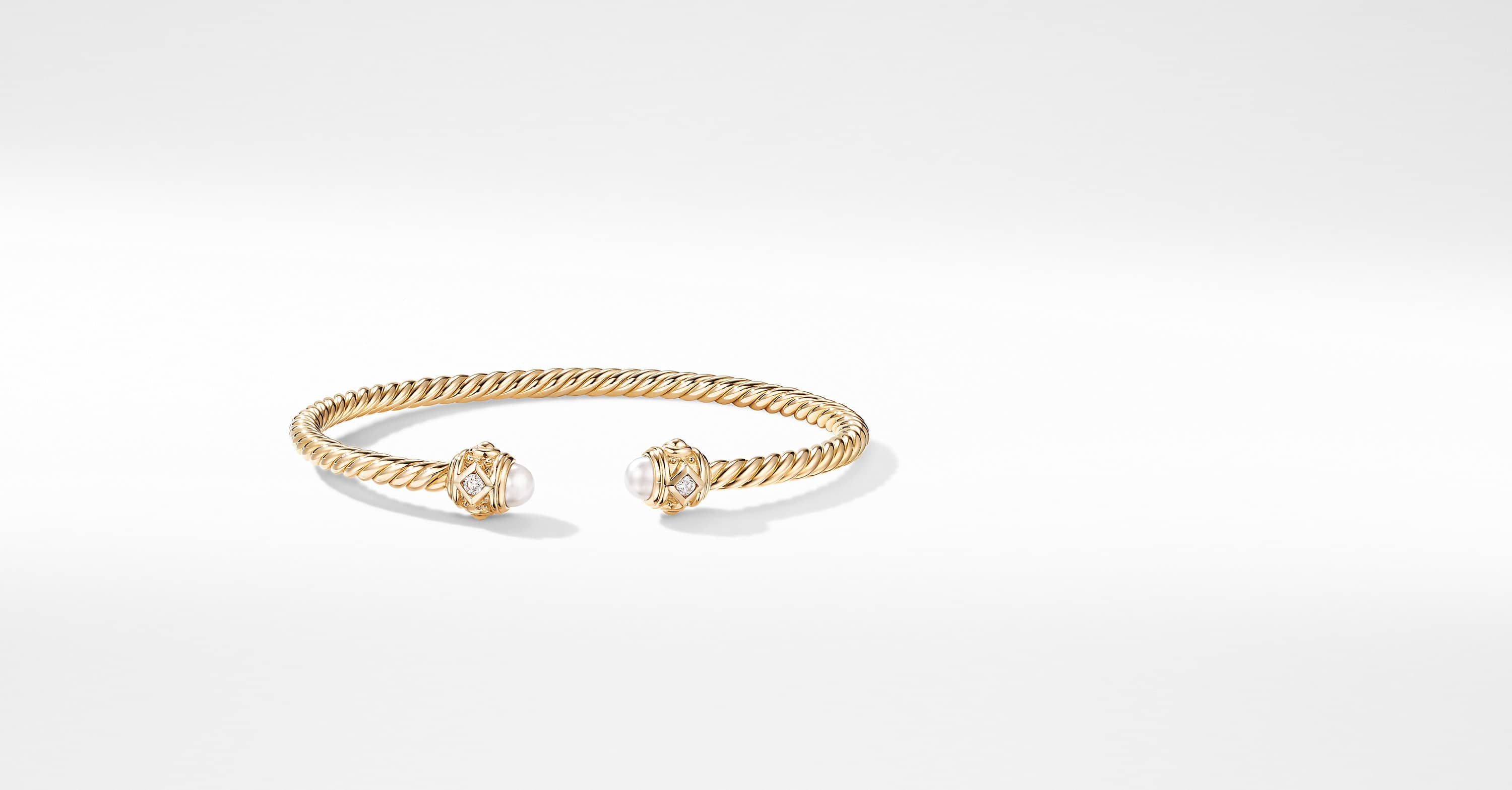 Renaissance Bracelet in 18K Yellow Gold with Diamonds, 3.5mm