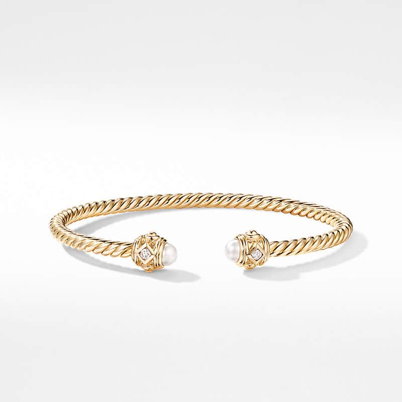 Renaissance Bracelet in 18K Yellow Gold with Pearls