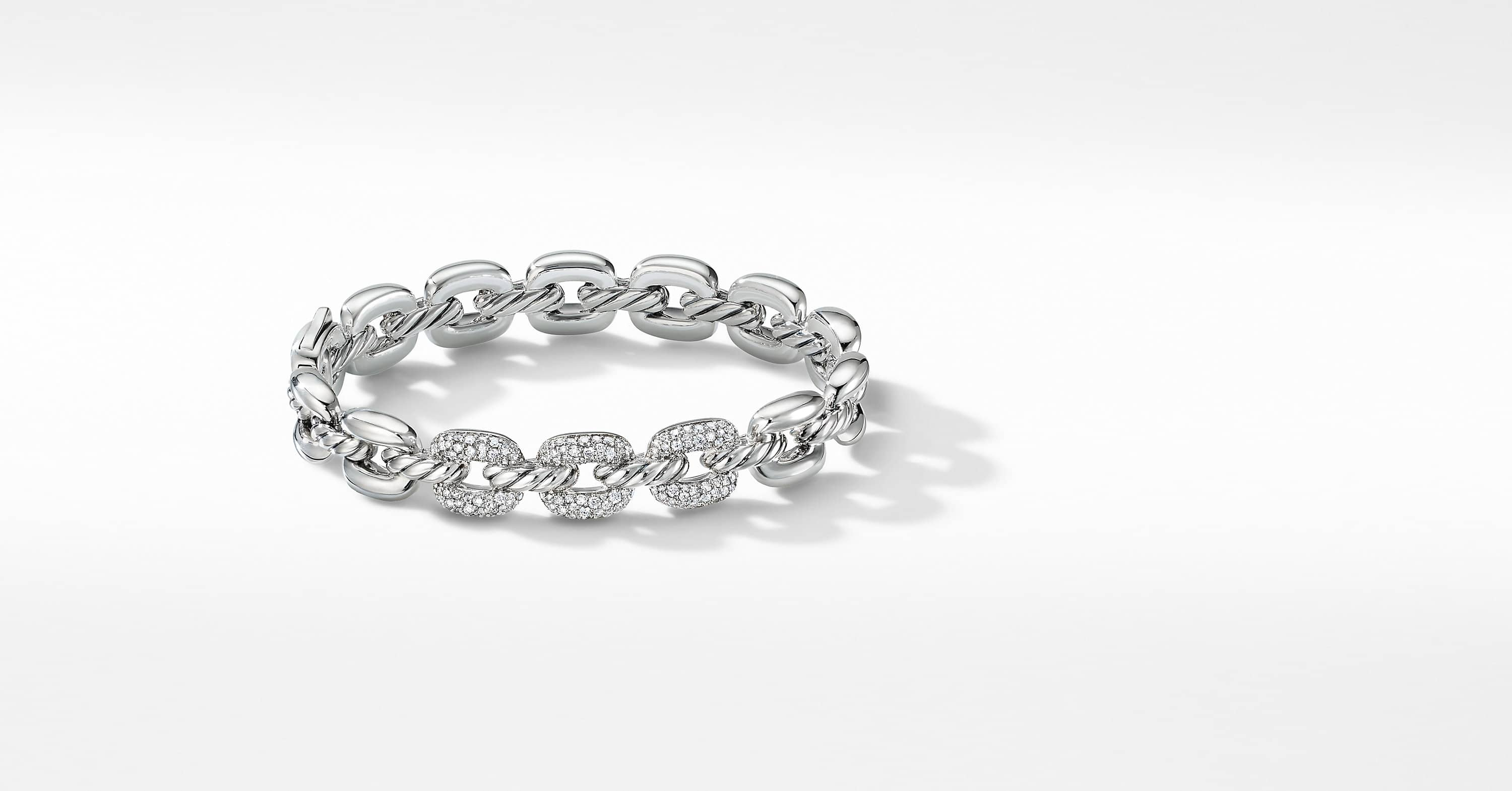 Thoroughbred Cushion Link Bracelet with Diamonds