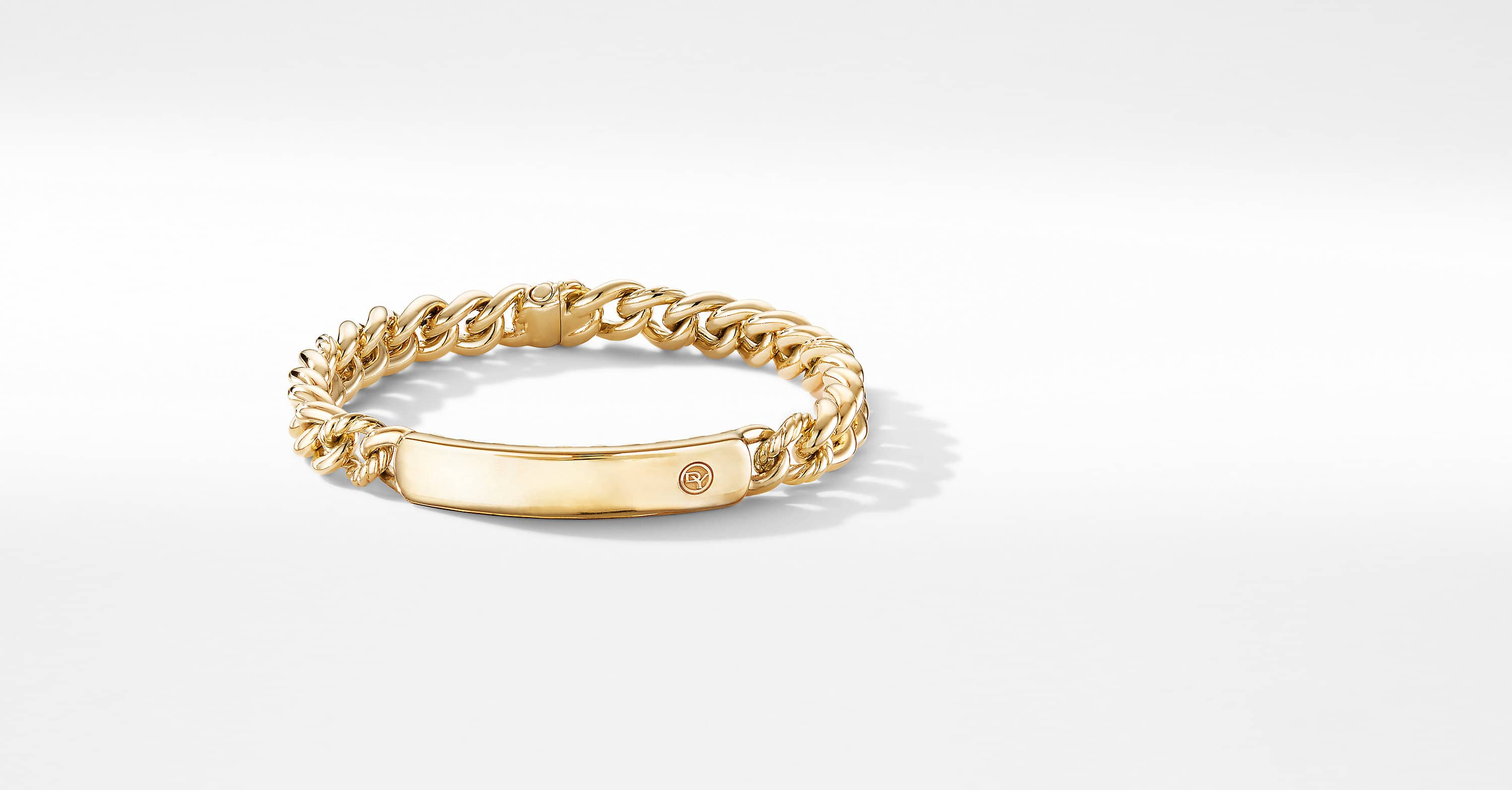Belmont Curb Link ID Bracelet in 18K Yellow Gold