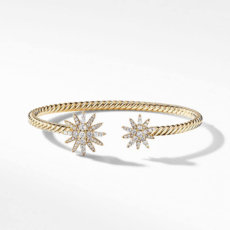 Starburst Open Cable Bracelet in 18K Yellow Gold