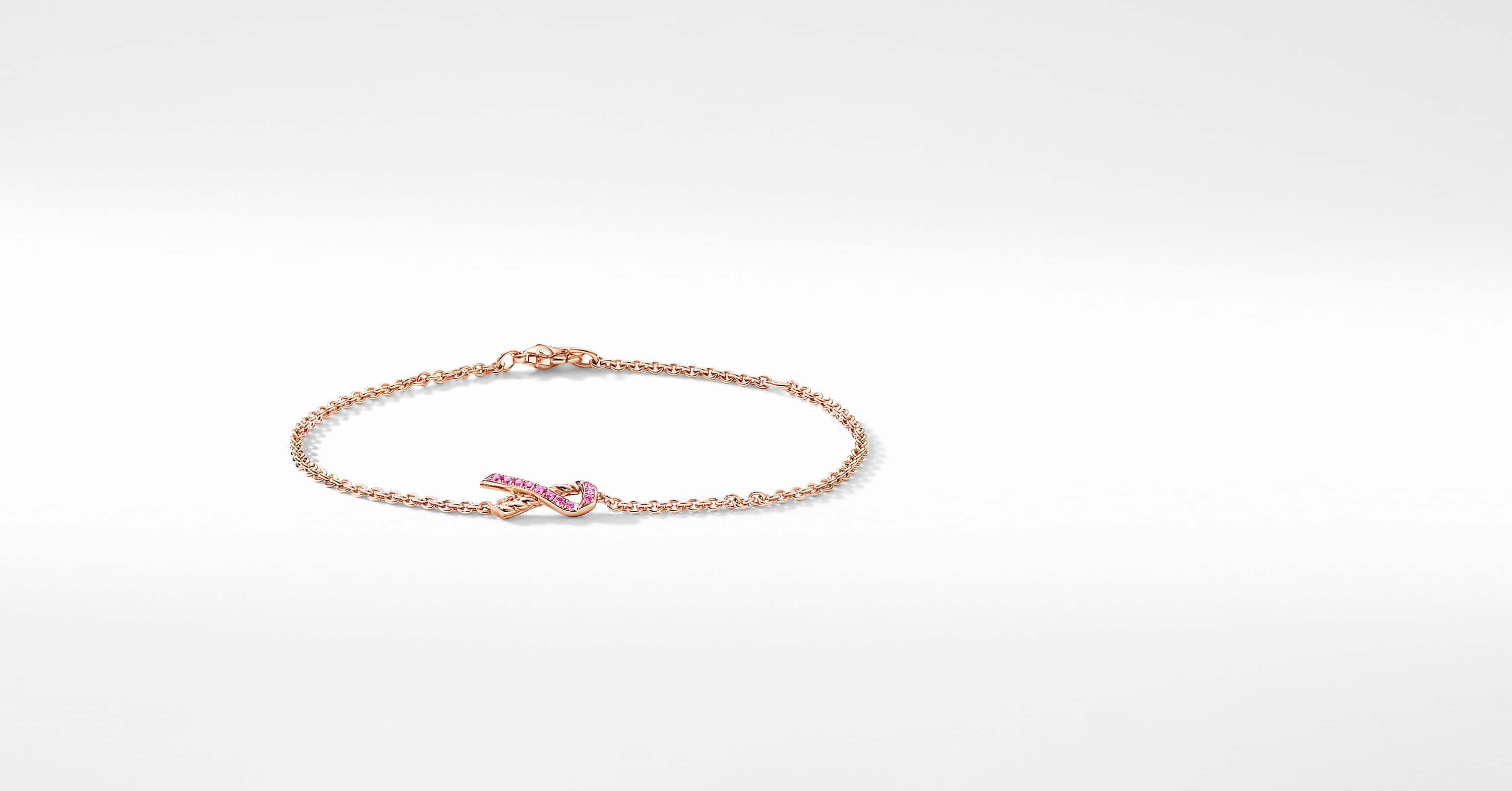 Cable Collectibles Ribbon Bracelet in 18K Rose Gold