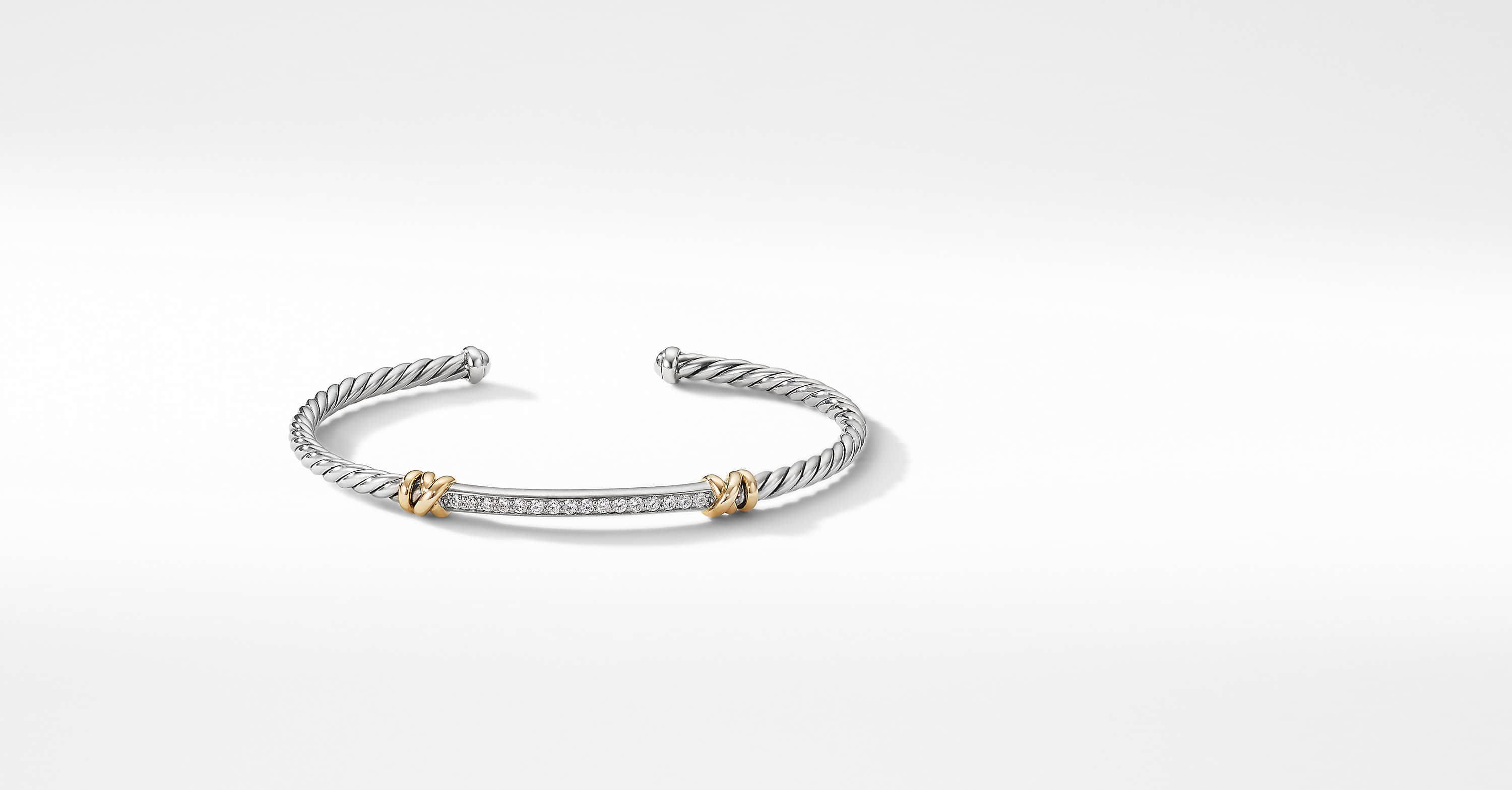 Petite Helena Two Station Wrap Bracelet with 18K Yellow Gold with Diamonds