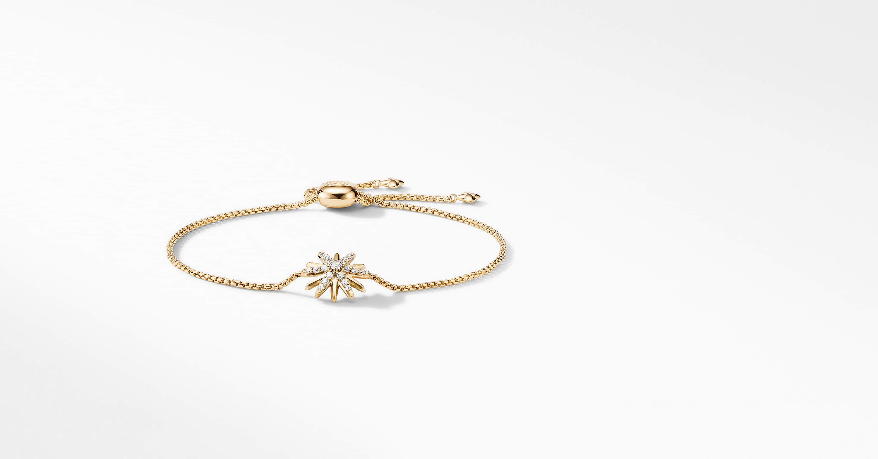 Starburst Station Chain Bracelet in 18K Yellow Gold with Diamonds