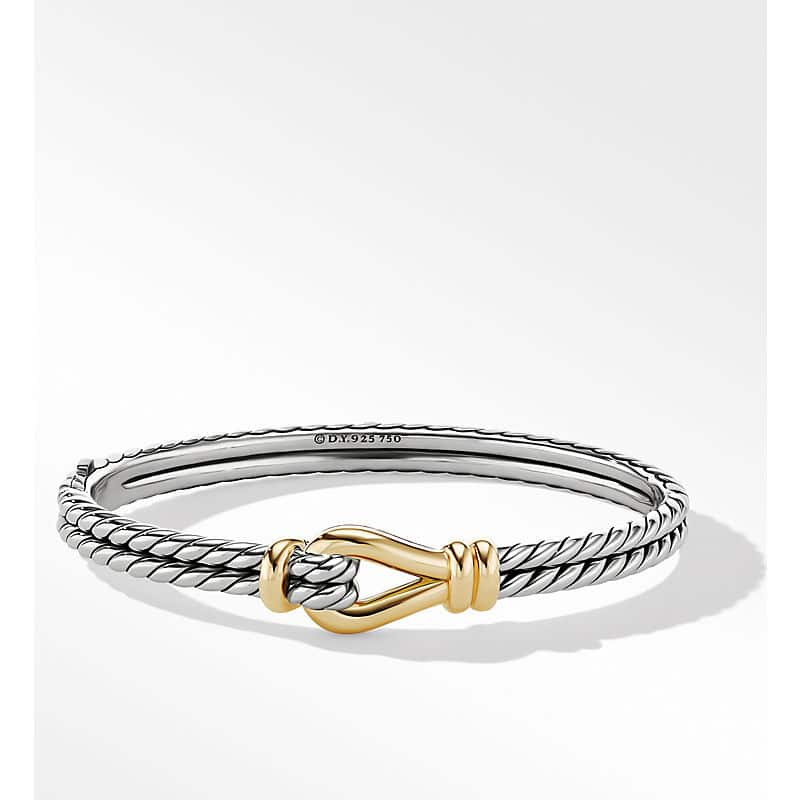 Thoroughbred Loop Bracelet with 18K Yellow Gold, 11mm