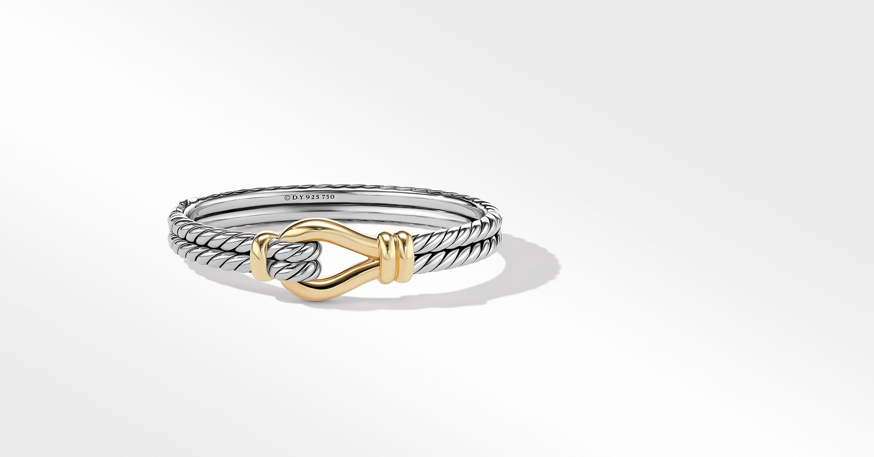 Thoroughbred Loop Bracelet with 18K Yellow Gold, 16mm