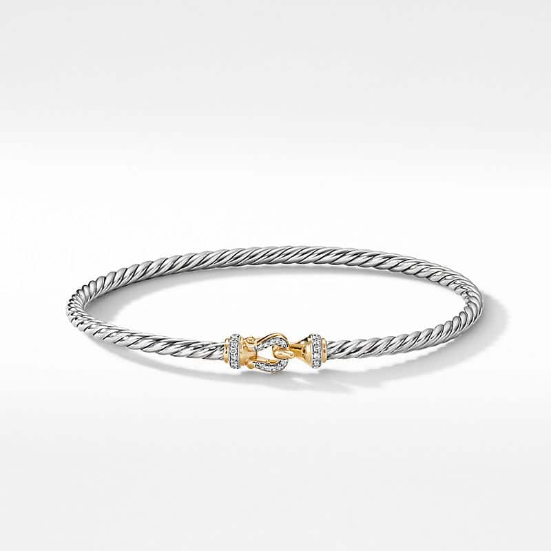 Cable Buckle Collection® Bracelet with 18K Yellow Gold