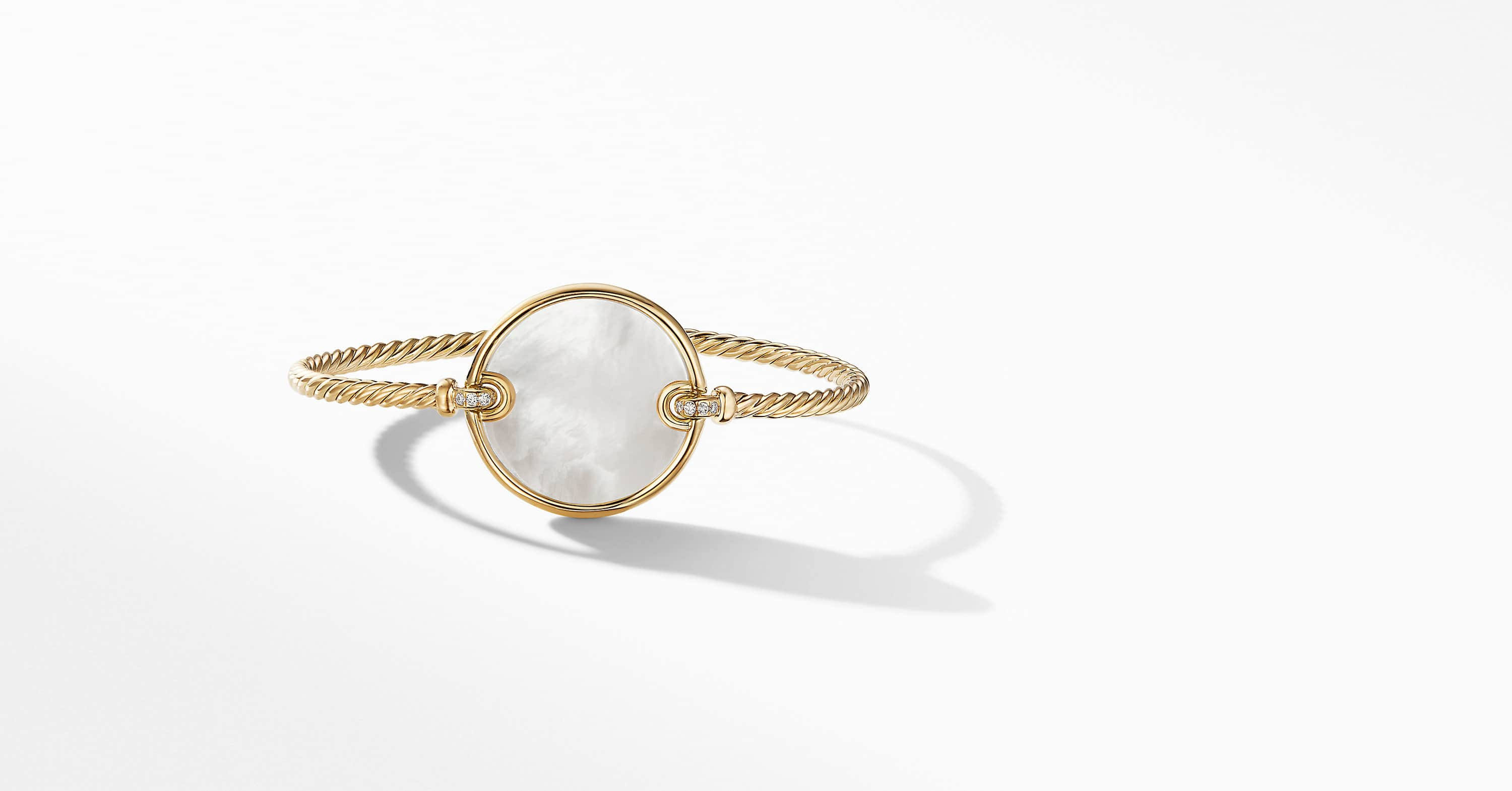 DY Elements Bracelet in 18K Yellow Gold with Diamonds, 22mm