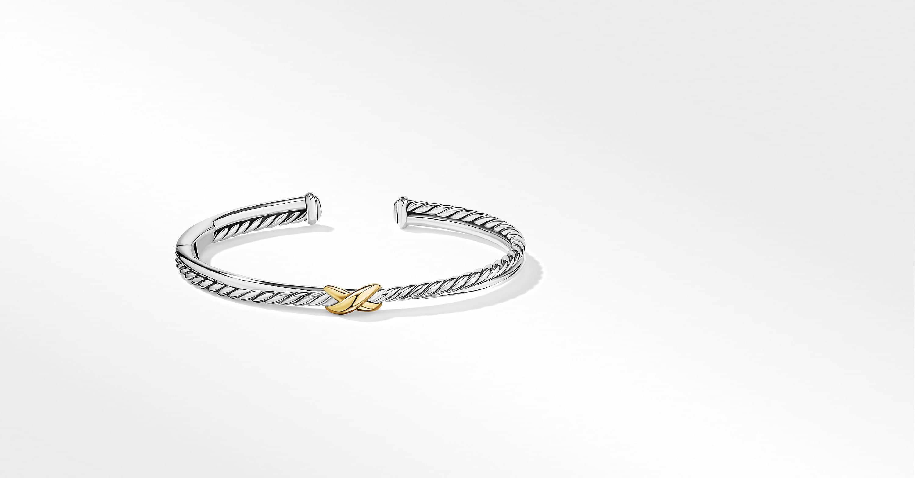 Petite X Center Station Bracelet with 18K Yellow Gold, 5.2mm
