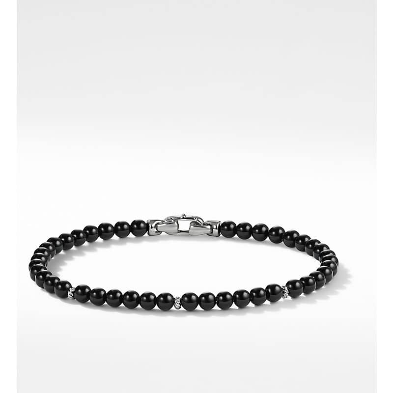 Spiritual Beads Bracelet with Accents, 4mm