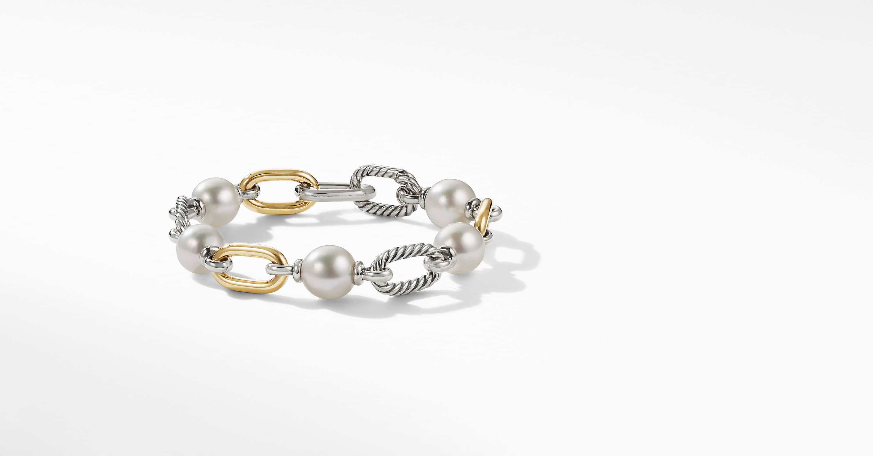 DY Madison Pearl Chain Bracelet with 18K Yellow Gold