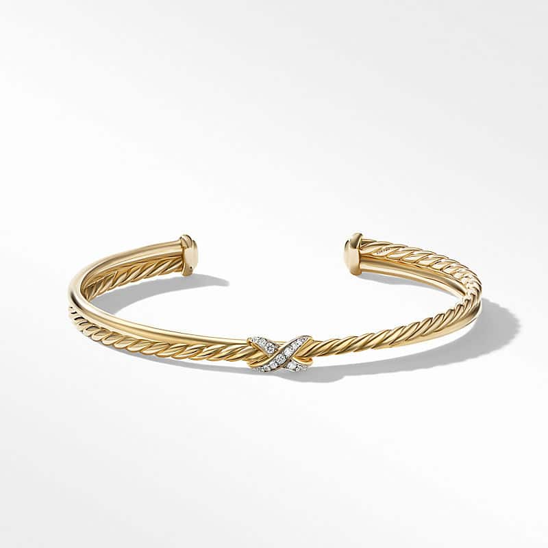 Petite X Bracelet in 18K Yellow Gold with