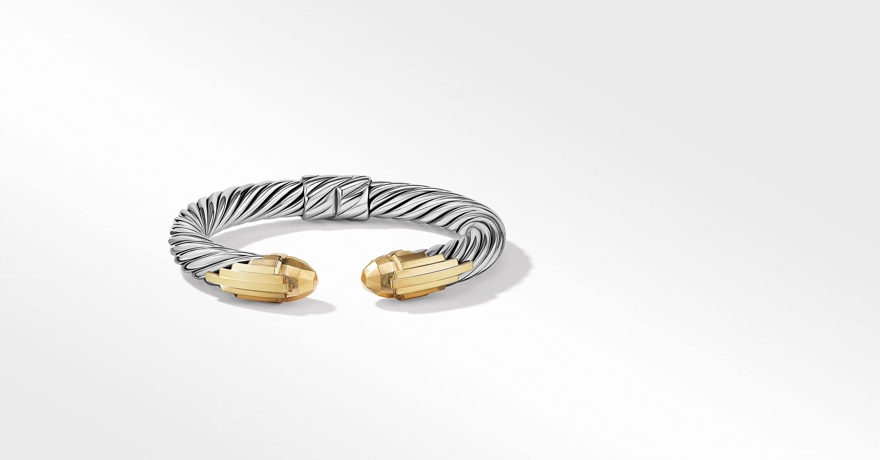 Empire Cable Bracelet with 18K Yellow Gold, 9mm