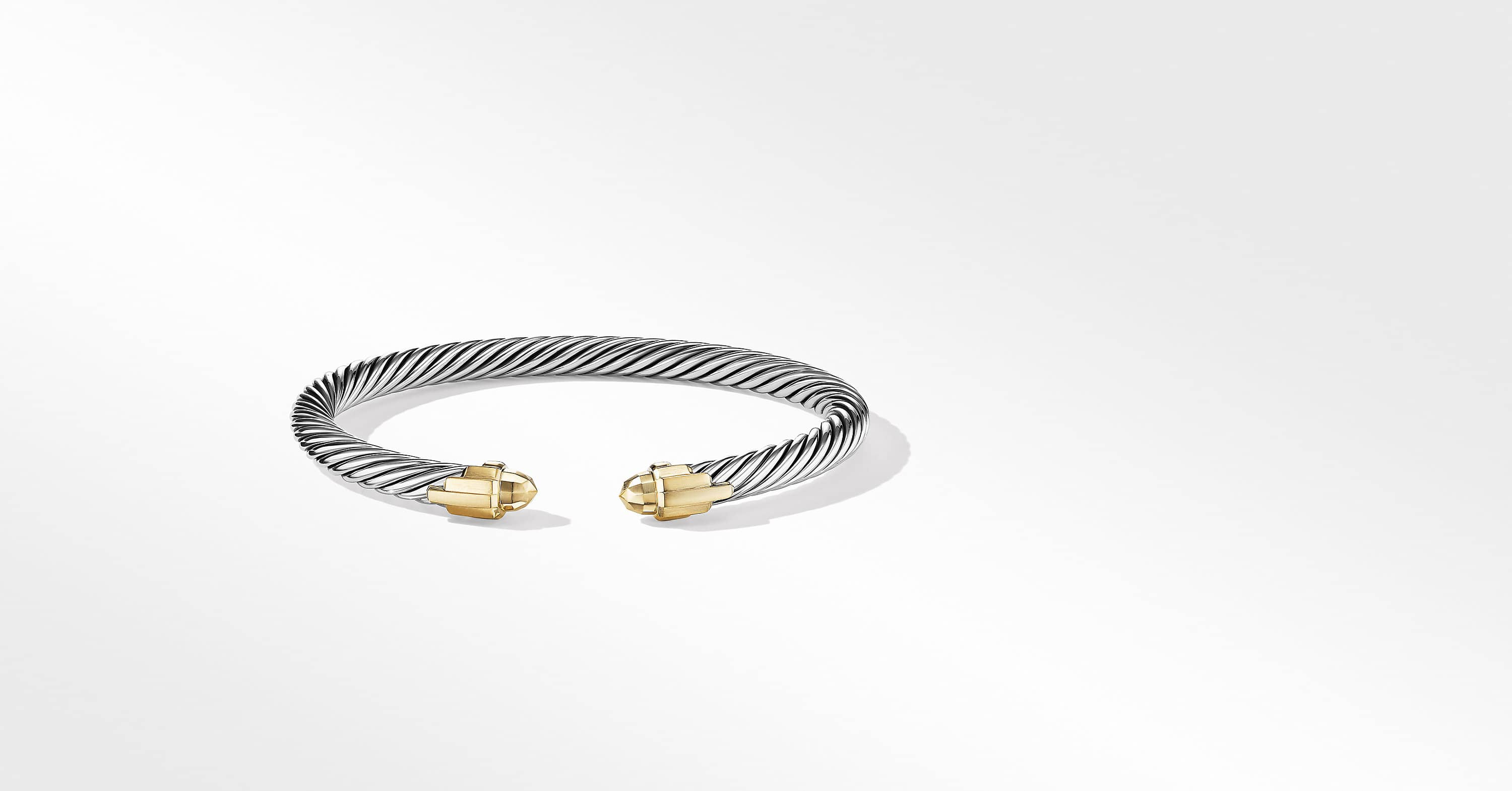 Empire Cable Bracelet with 18K Yellow Gold, 5mm