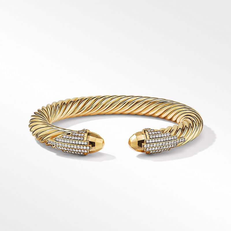 Empire Cable Bracelet in 18K Yellow Gold with
