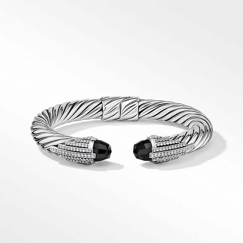 Empire Cable Bracelet with Black Onyx and Pavé