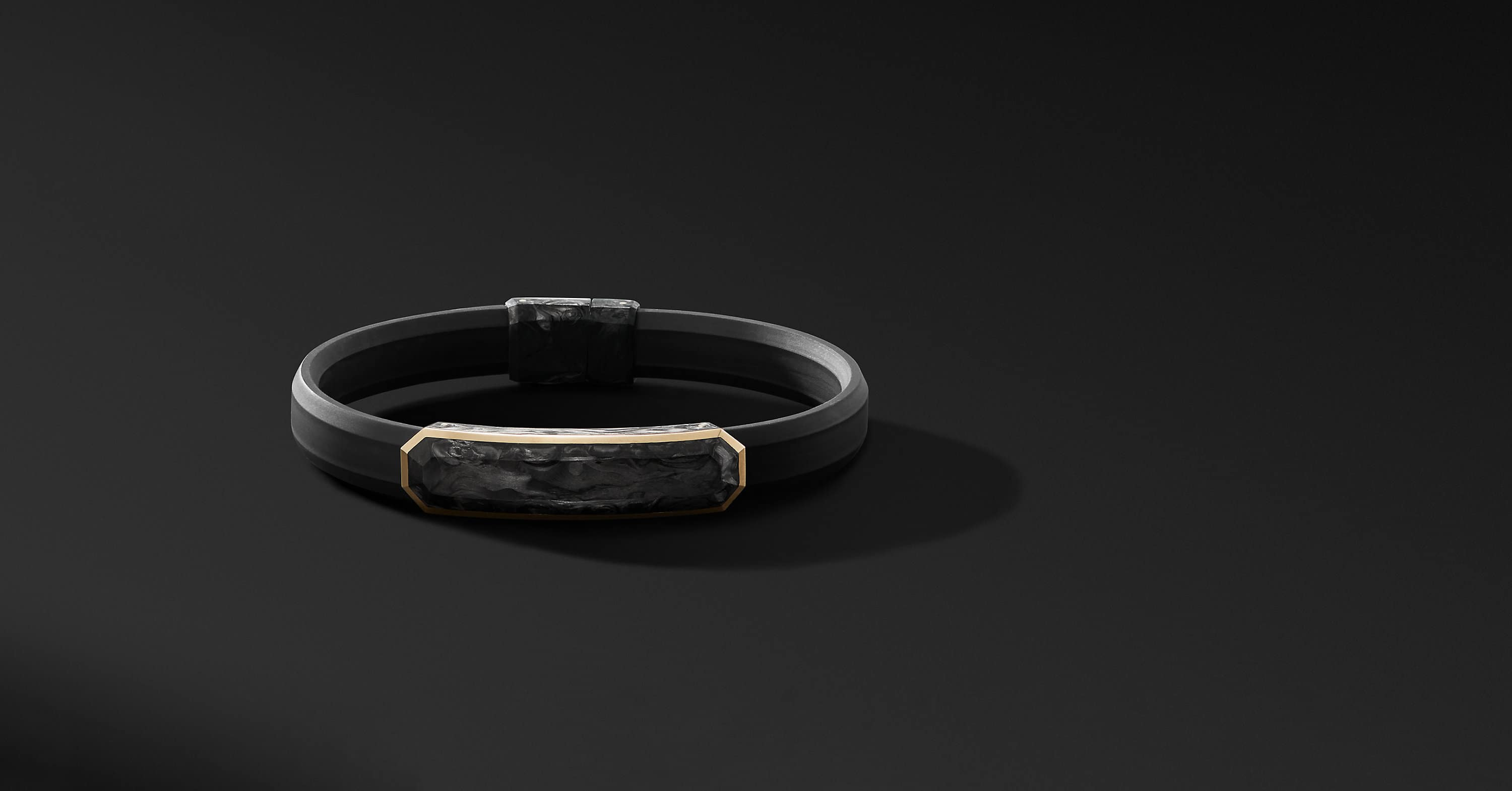 Forged Carbon Rubber Bracelet