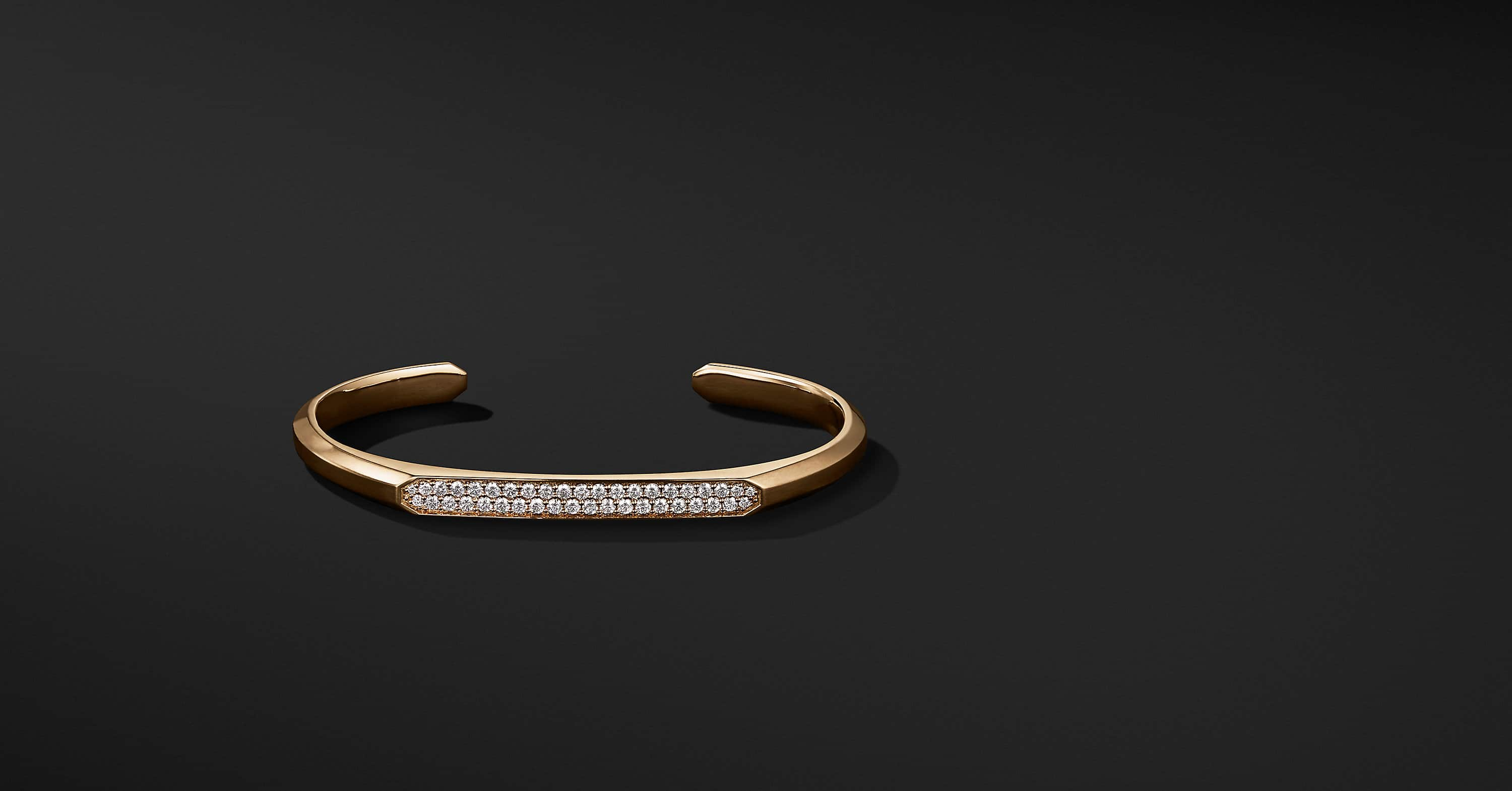 Streamline Narrow Cuff Bracelet in 18K Gold