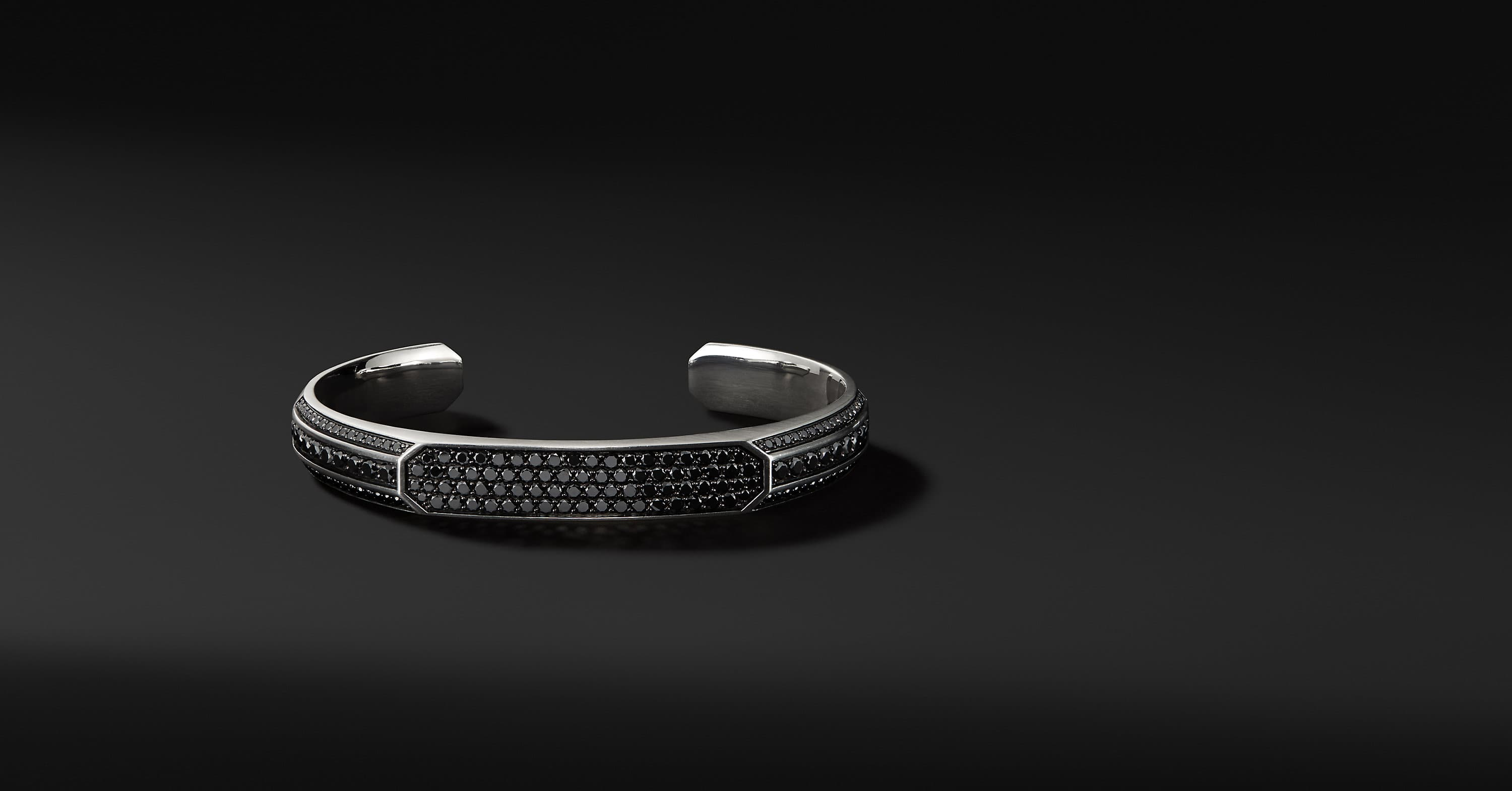 Streamline Heirloom Cuff with Black Diamonds
