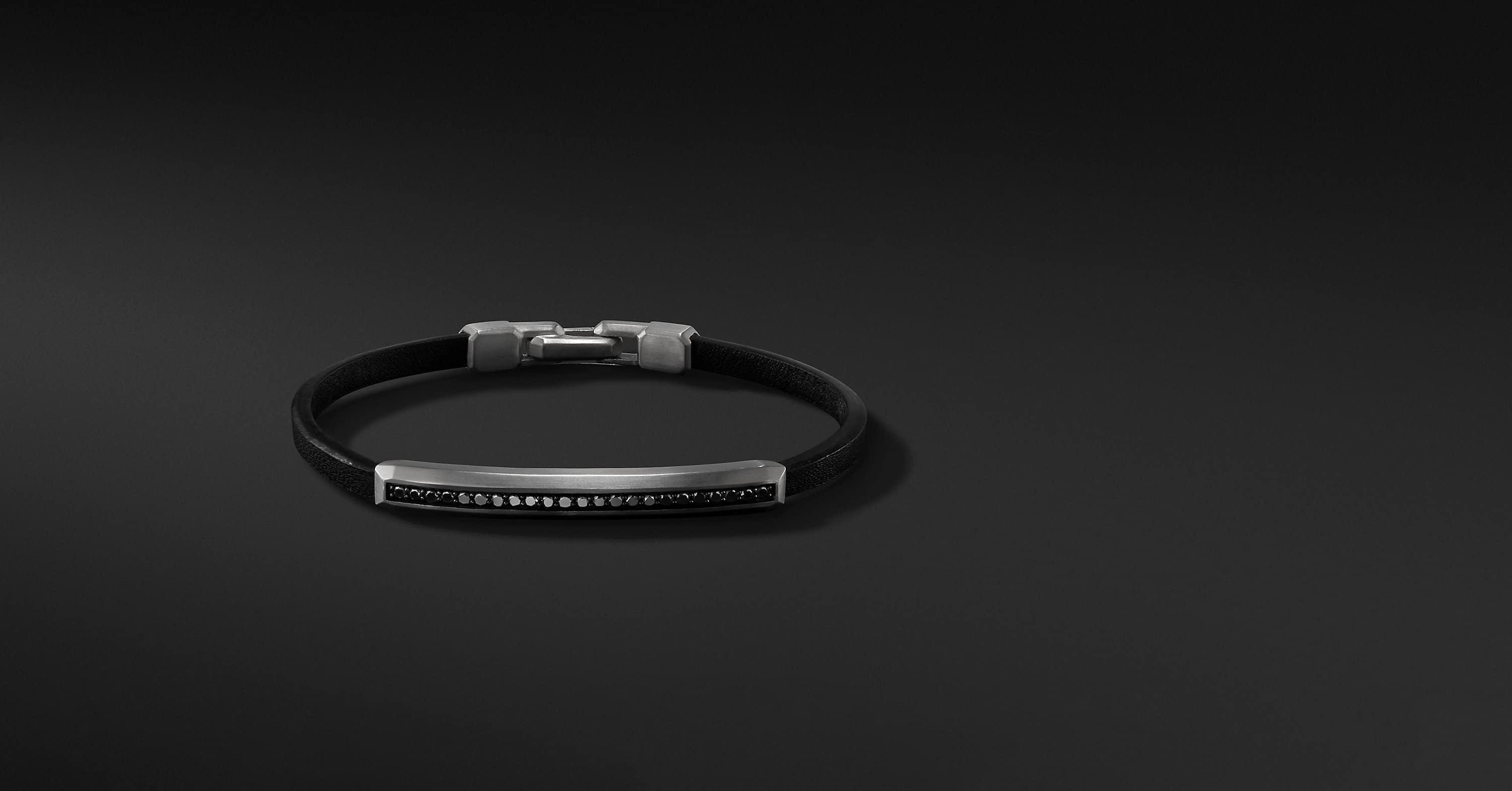 Pavé Leather ID Bracelet