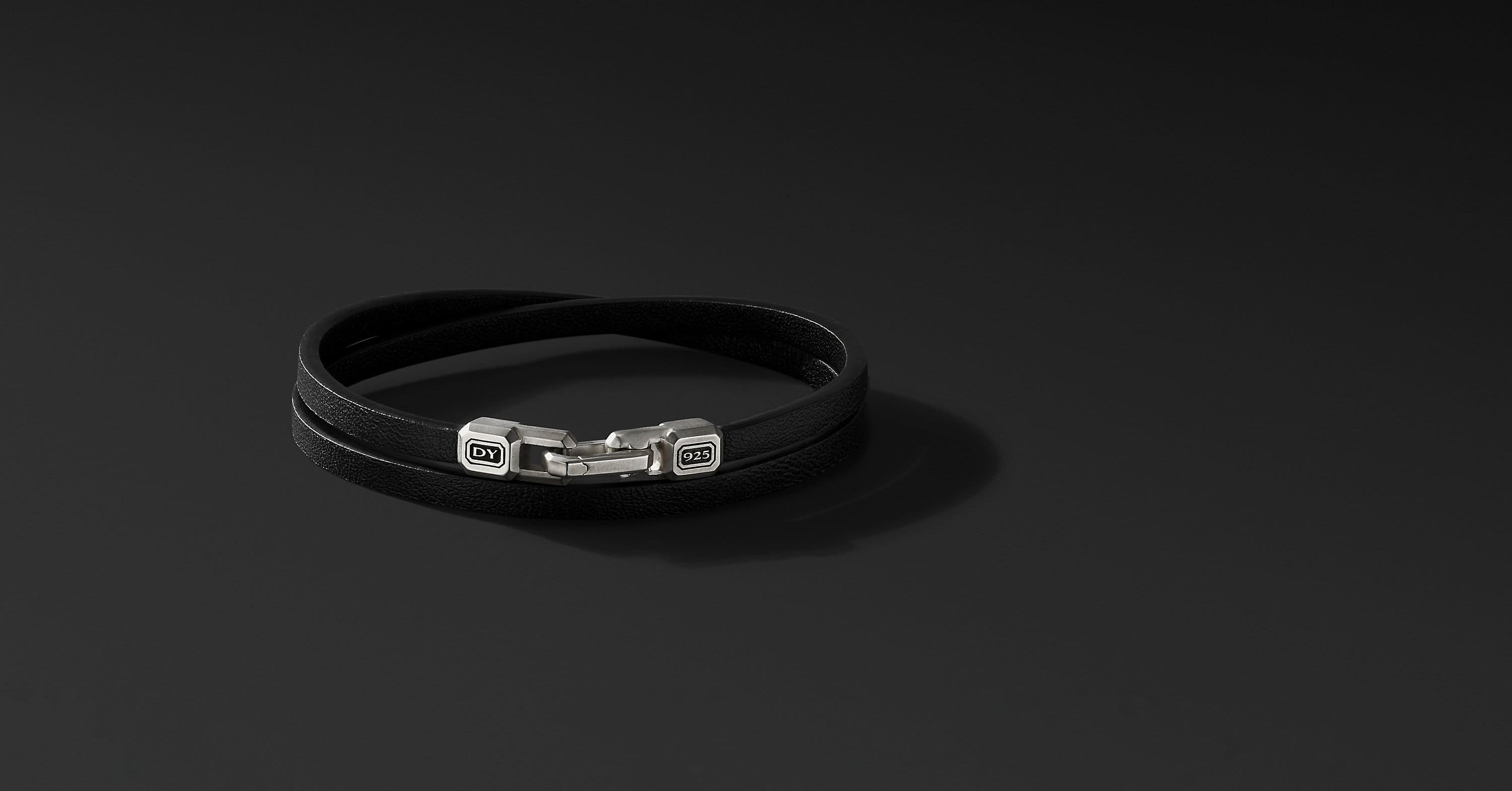 Streamline Double-Wrap Leather Bracelet