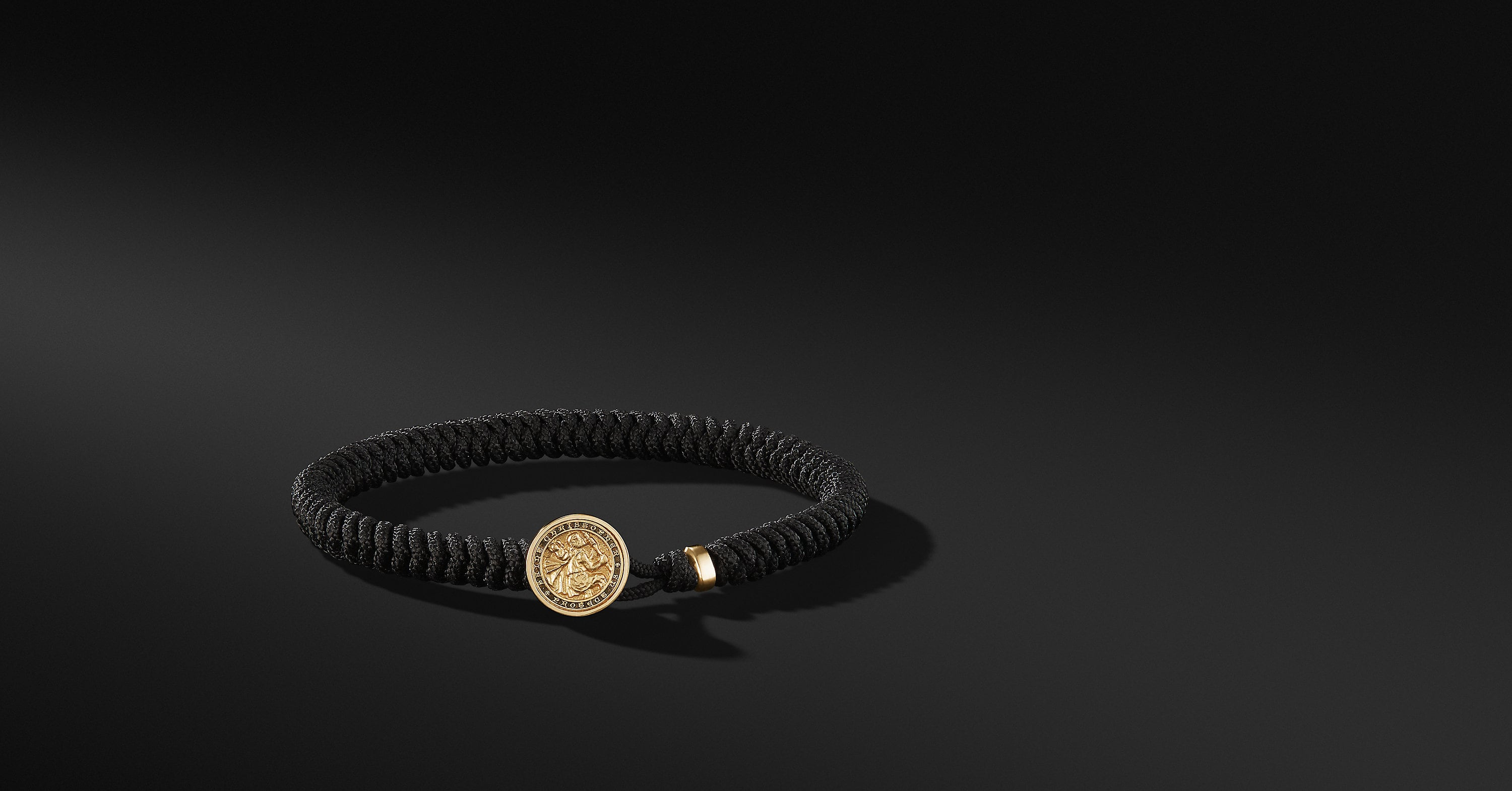 Woven St.Christopher Bracelet with 18K Gold