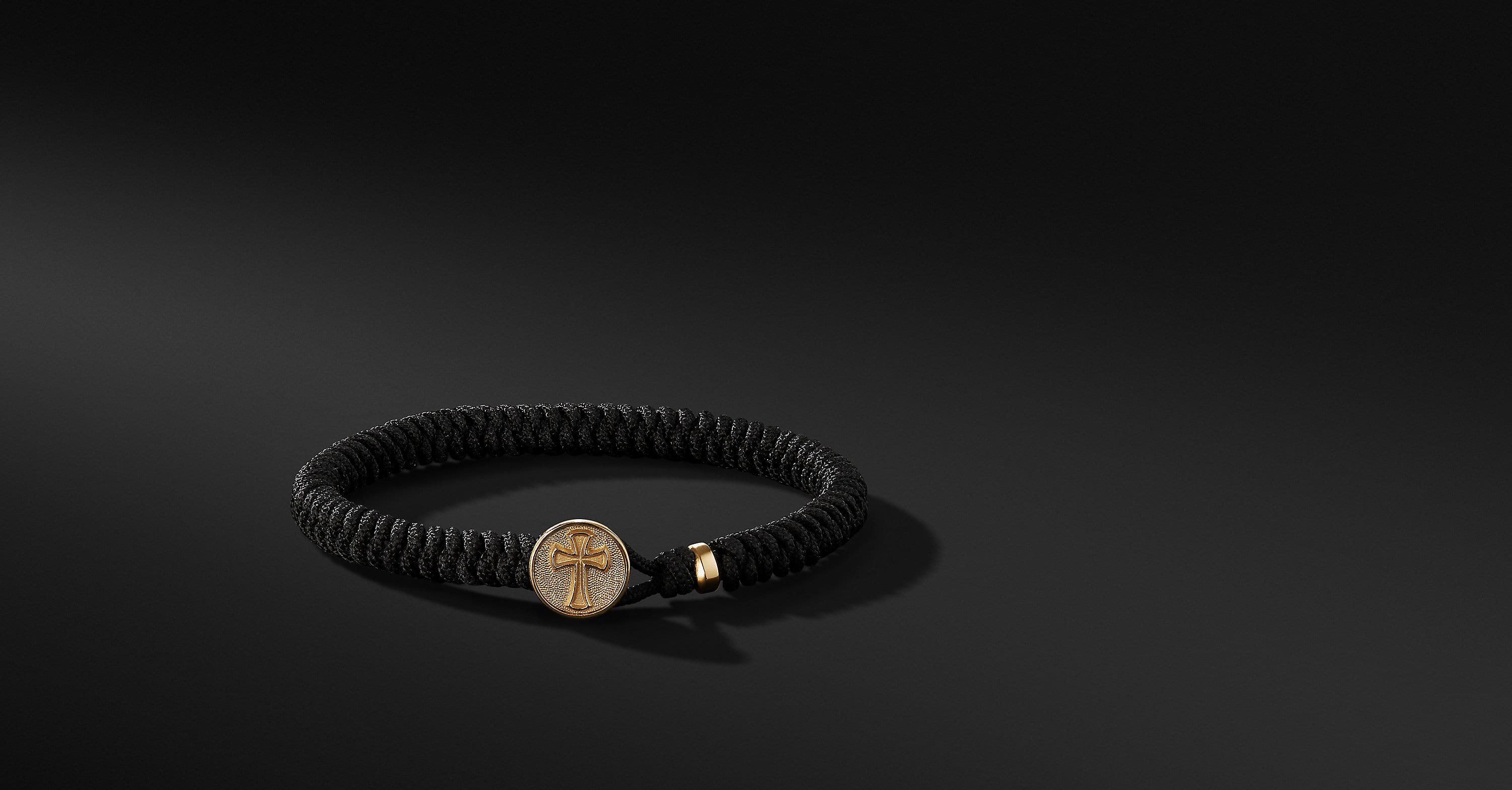 Woven Cross Bracelet with 18K Gold