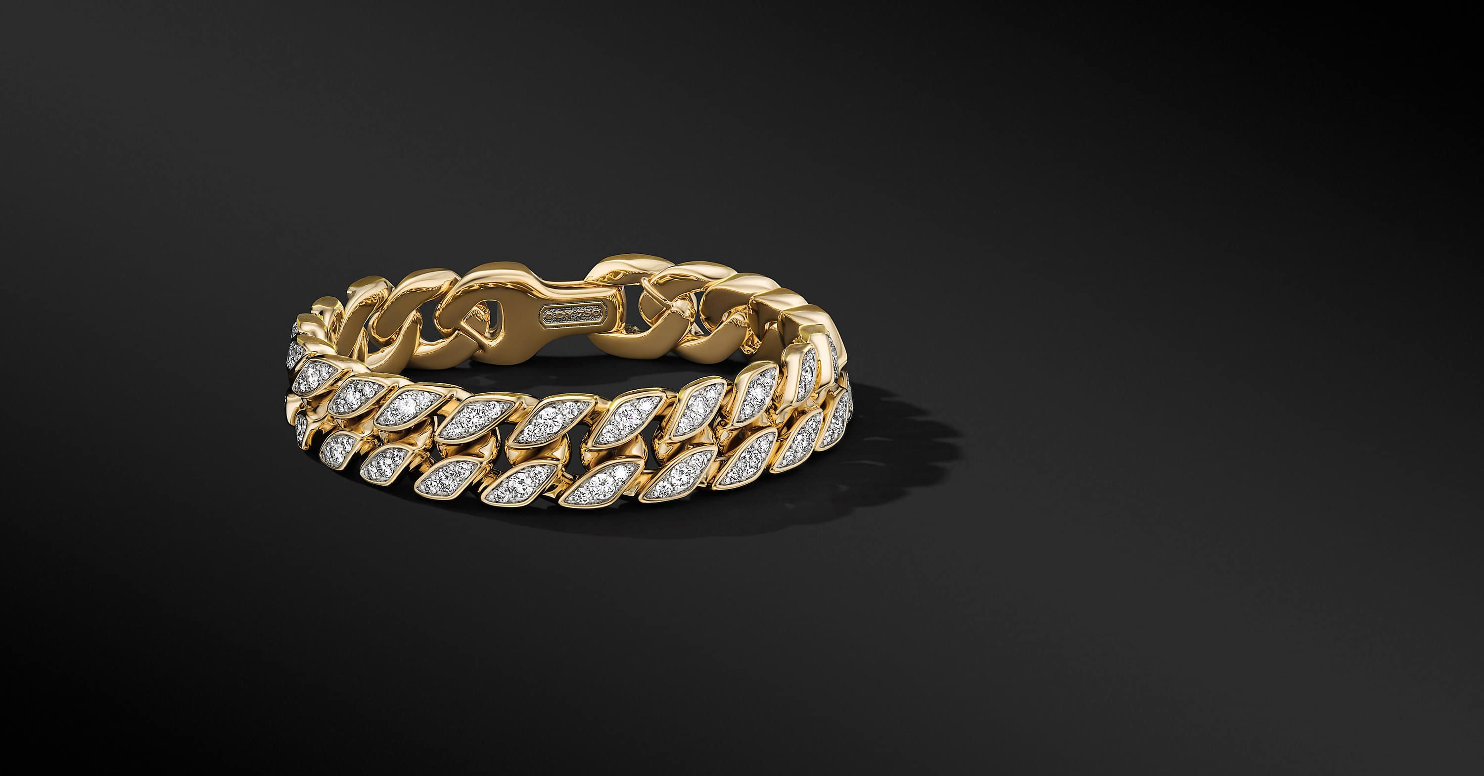 Curb Chain Bracelet in 18K Yellow Gold, 14.5mm