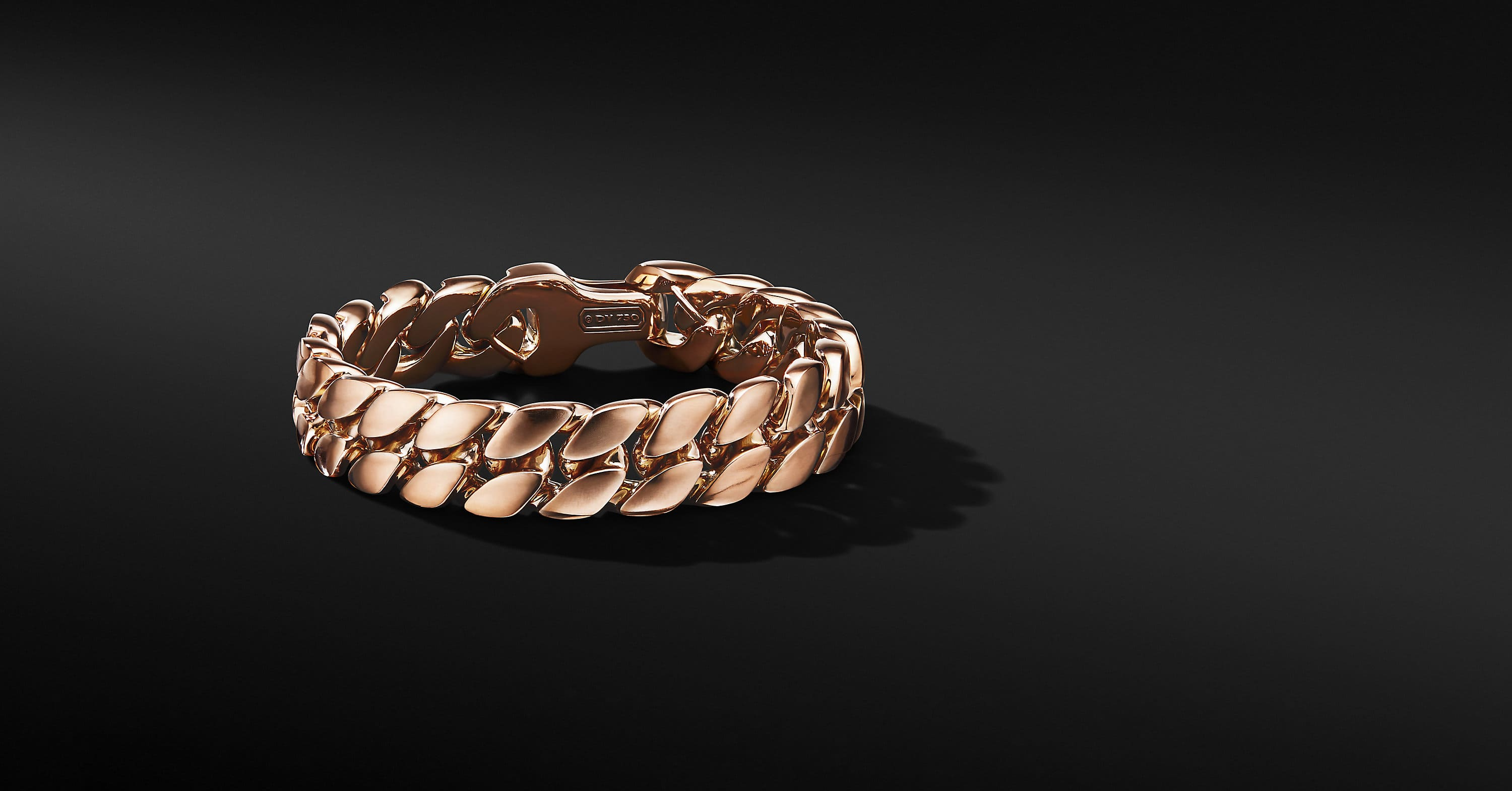Curb Chain Bracelet in 18K Rose Gold, 14.5mm