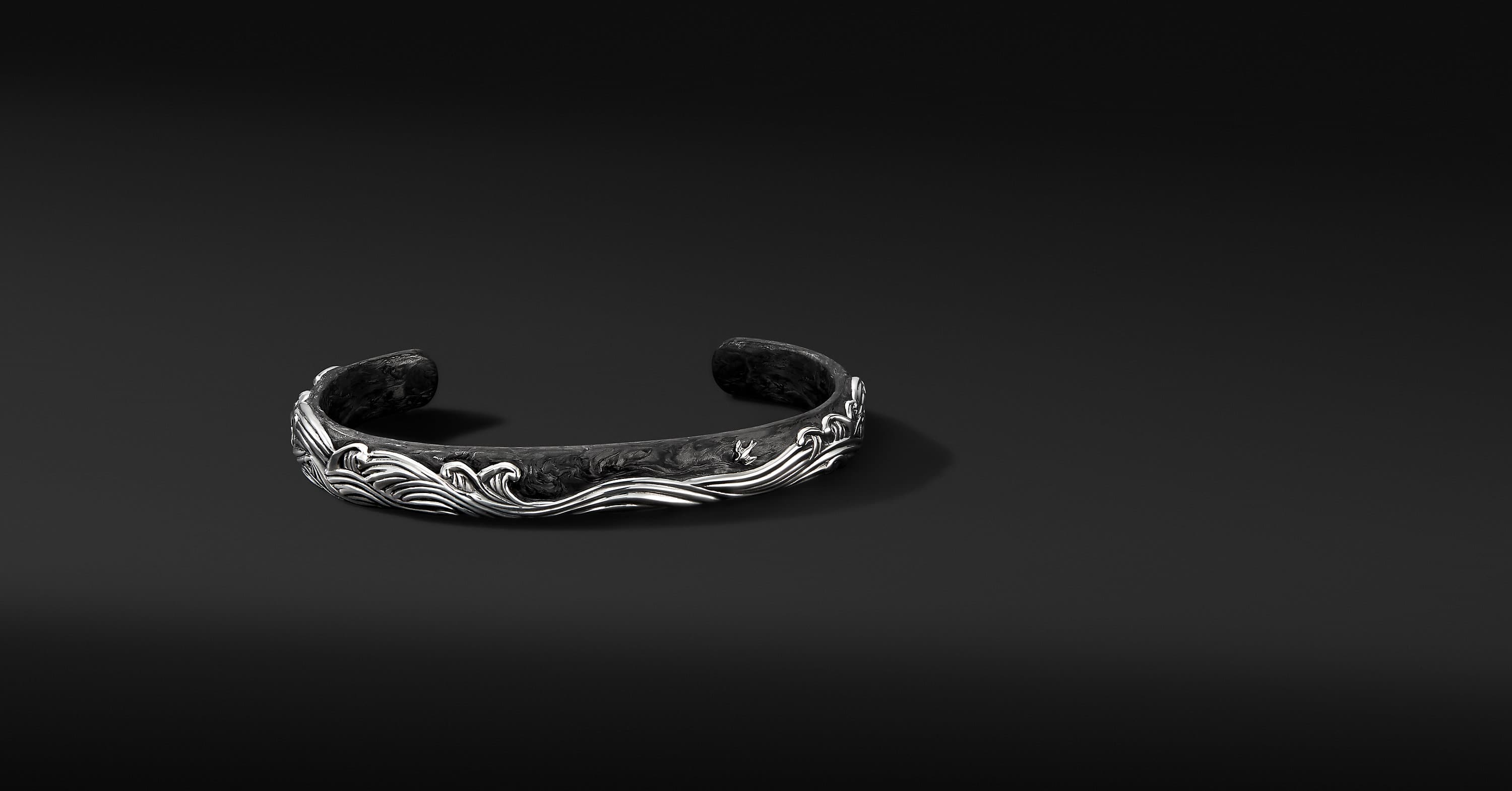 Bracelet manchette Waves, 9 mm
