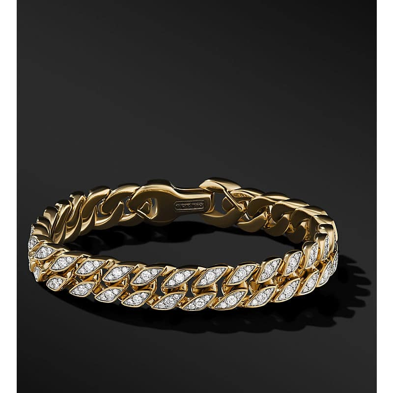 Curb Chain Bracelet in 18K Yellow Gold, 11.5mm
