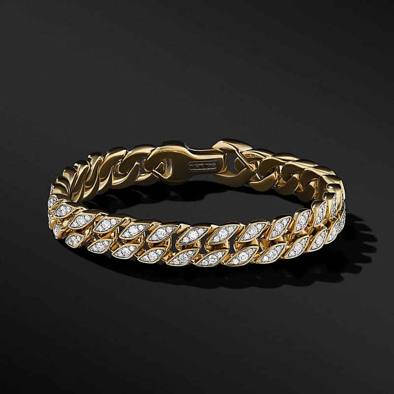 Curb Chain Bracelet in 18K Yellow Gold with