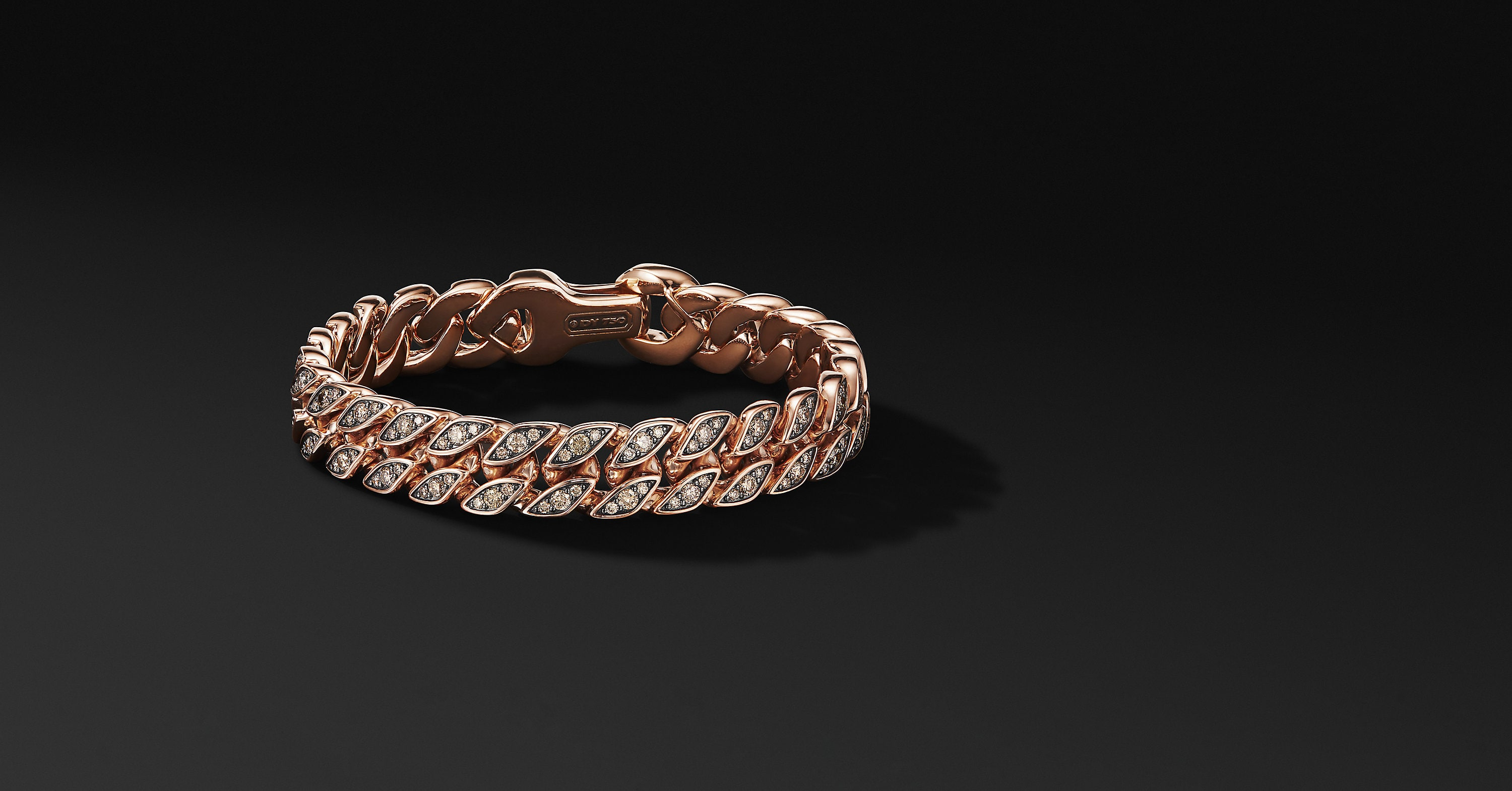 Curb Chain Bracelet in 18K Rose Gold, 11.5mm