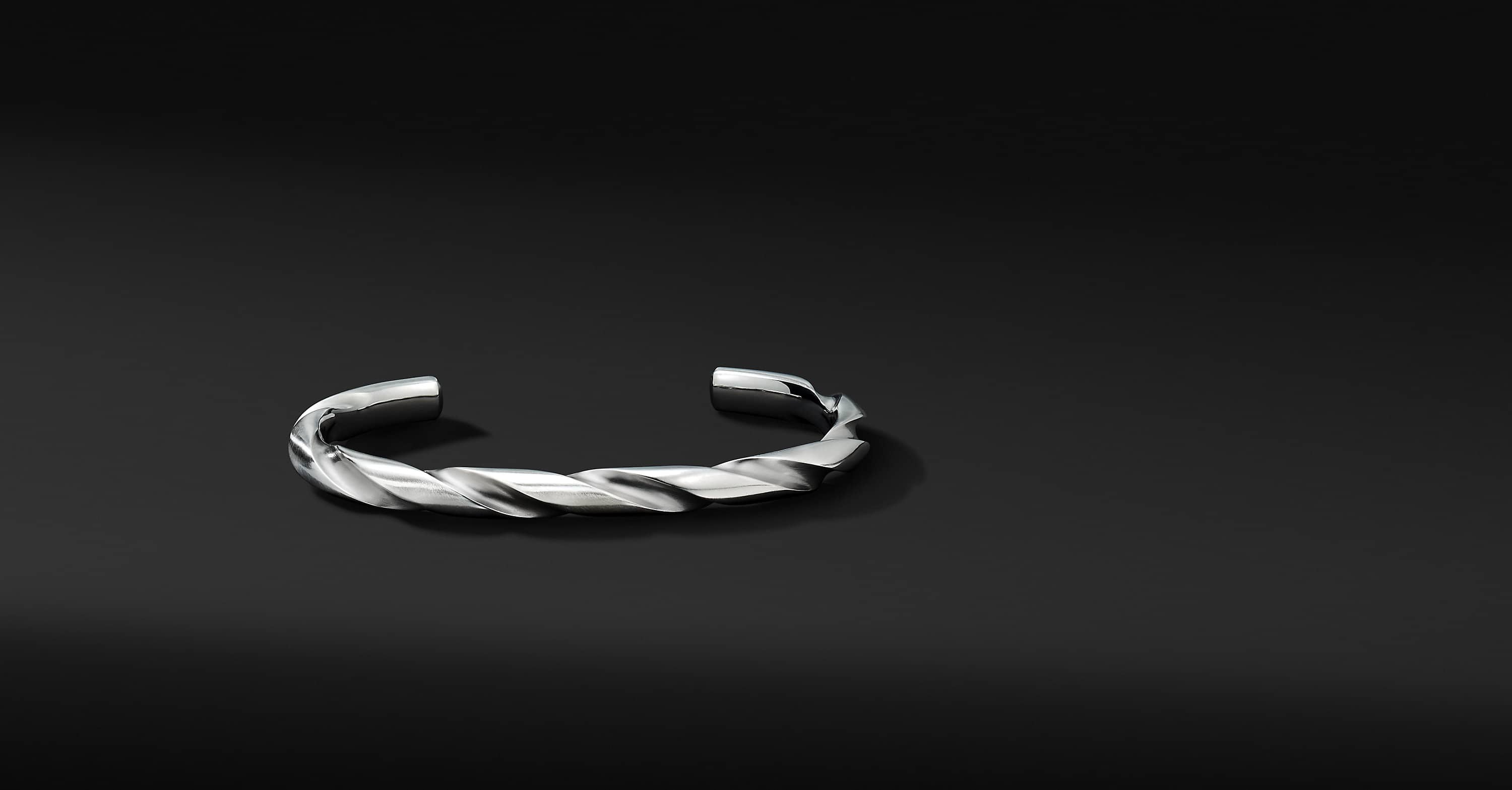 Modern Cable Cuff Bracelet, 6mm