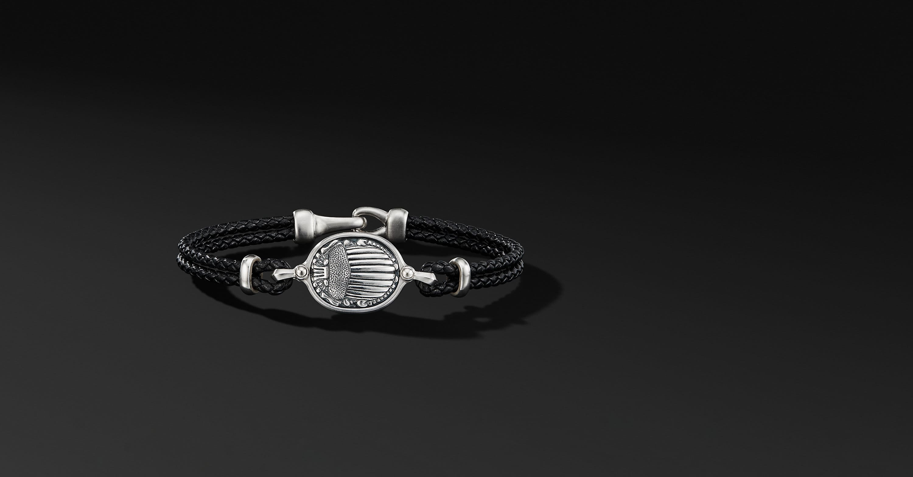 Petrvs Scarab Leather Bracelet
