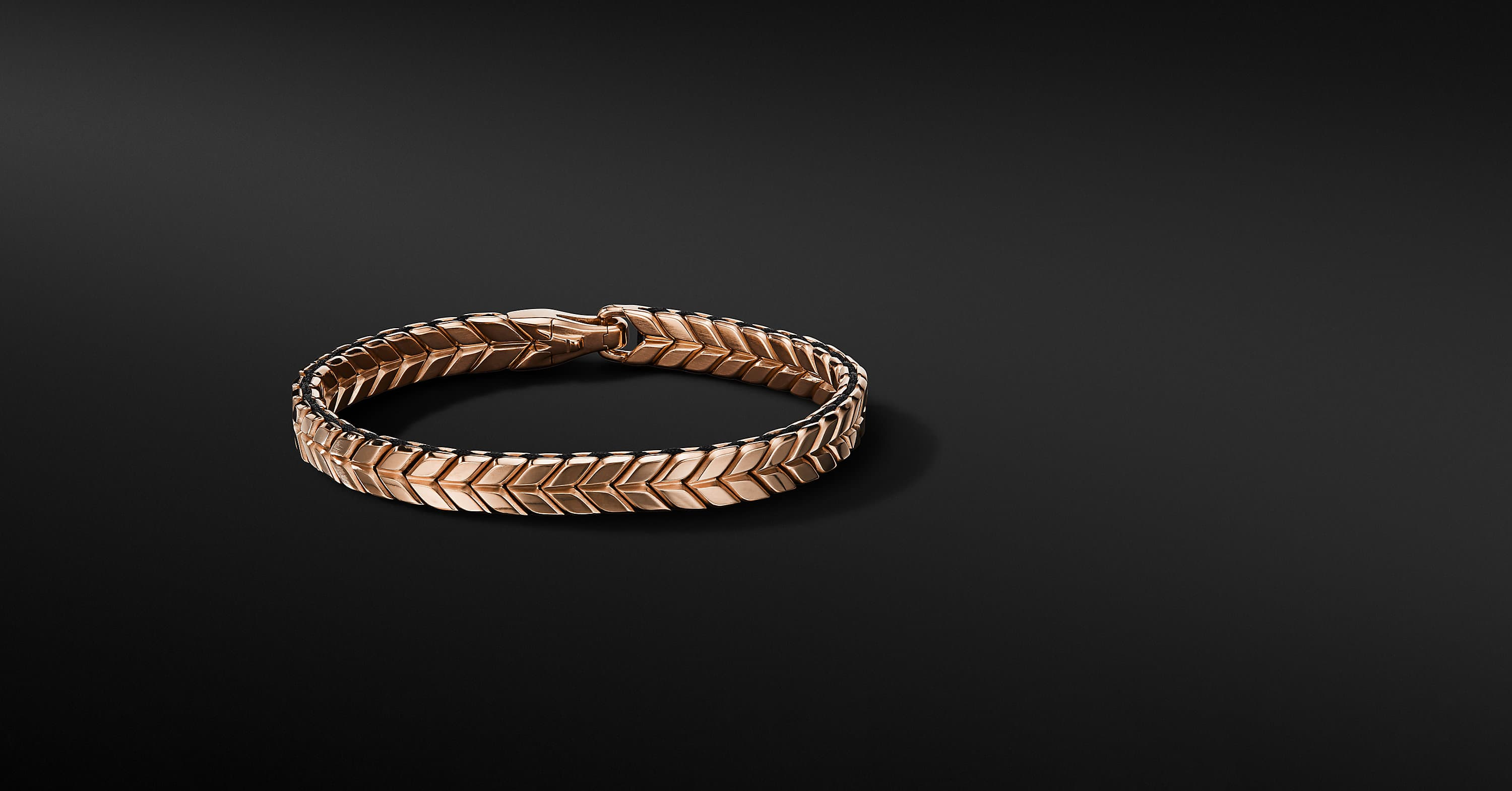 Chevron Woven Bracelet in 18K Rose Gold