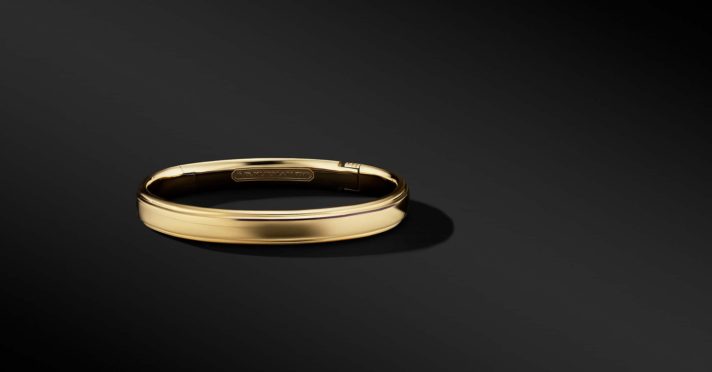 Streamline Bracelet in 18K Yellow Gold, 9mm