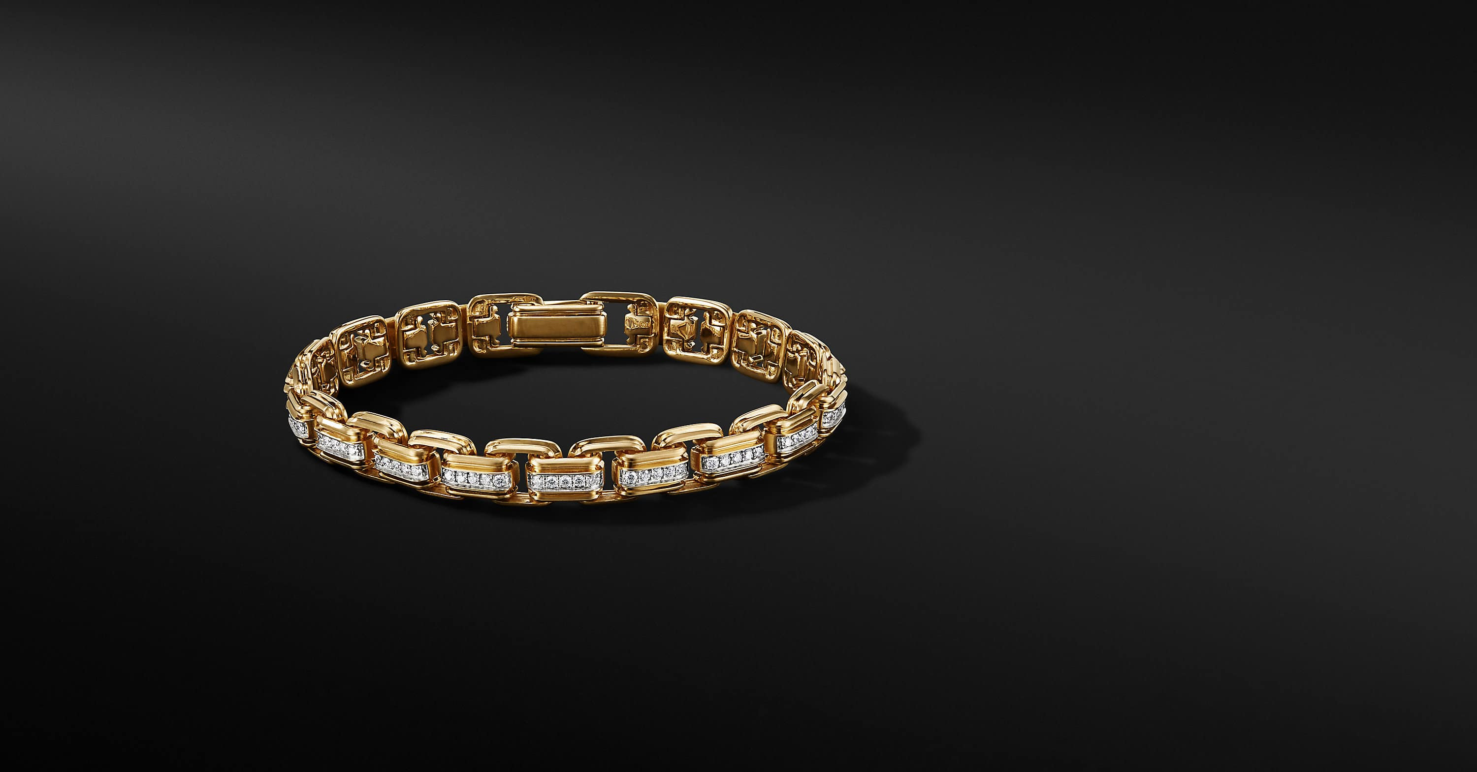 Deco Chain Link Bracelet in 18K Yellow Gold